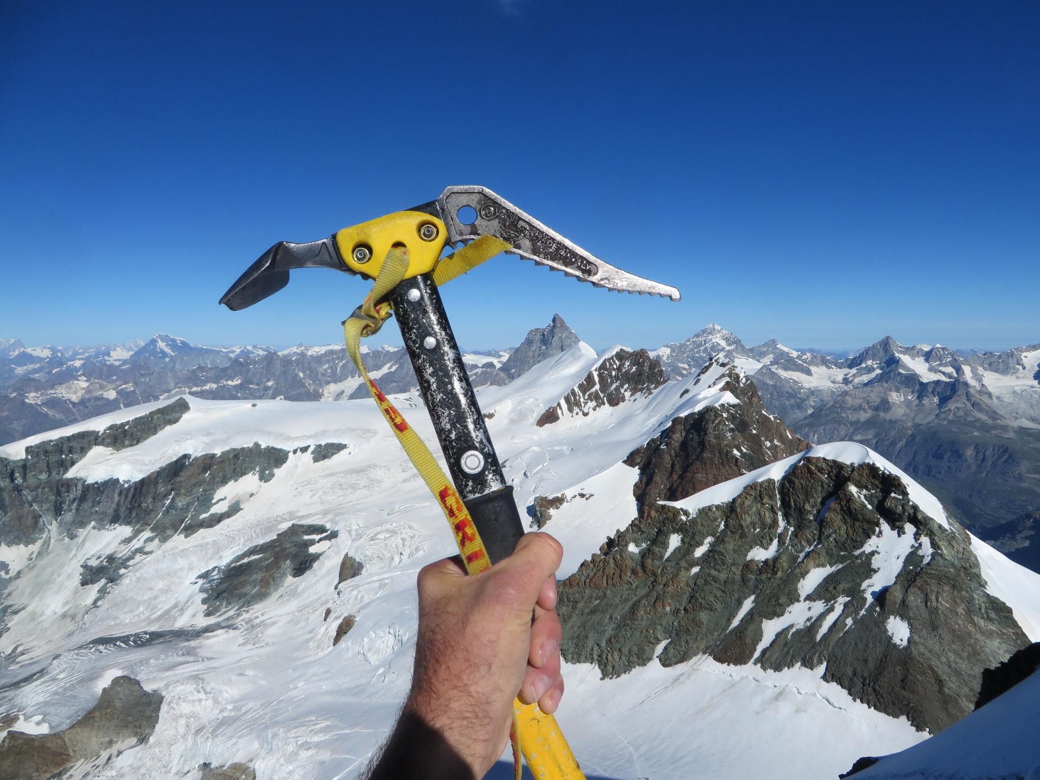 Blick zum Matterhorn vom Castor (4228m) 14.08.2016