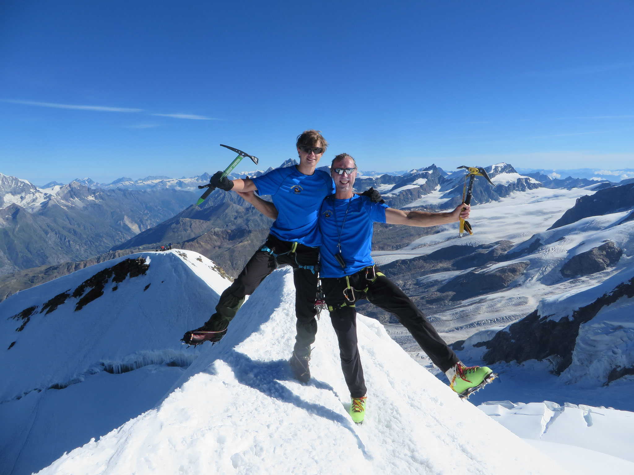 Sebastian und Torsten auf dem Castor (4228m) 14.08.2016
