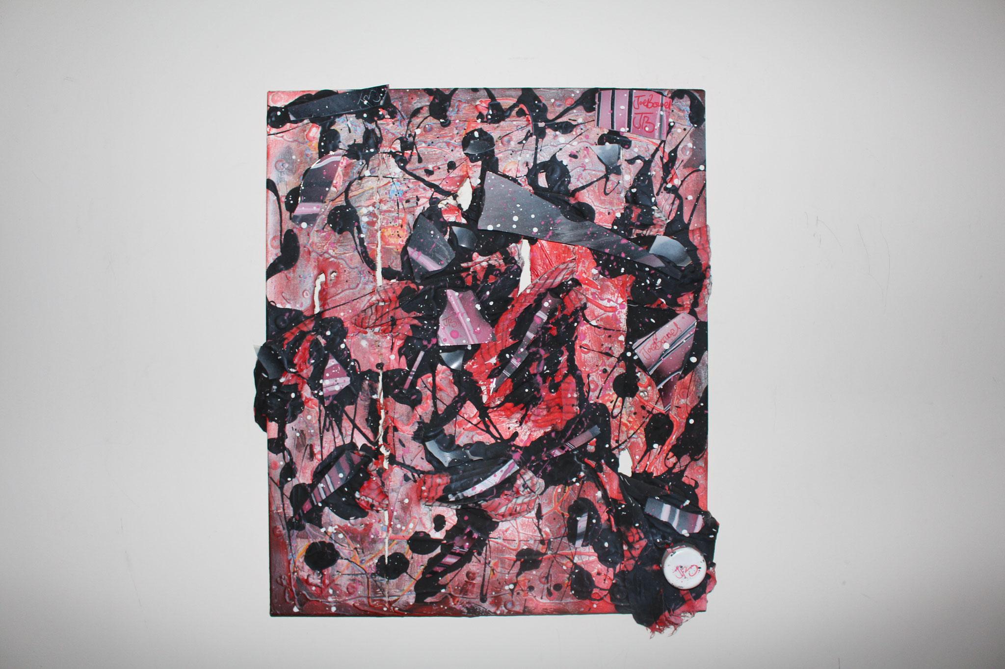 "17. "" Untitled. "" (60 x 50cm) Acrylic paint, glass & mirror on canvas. 2013 (€600)"
