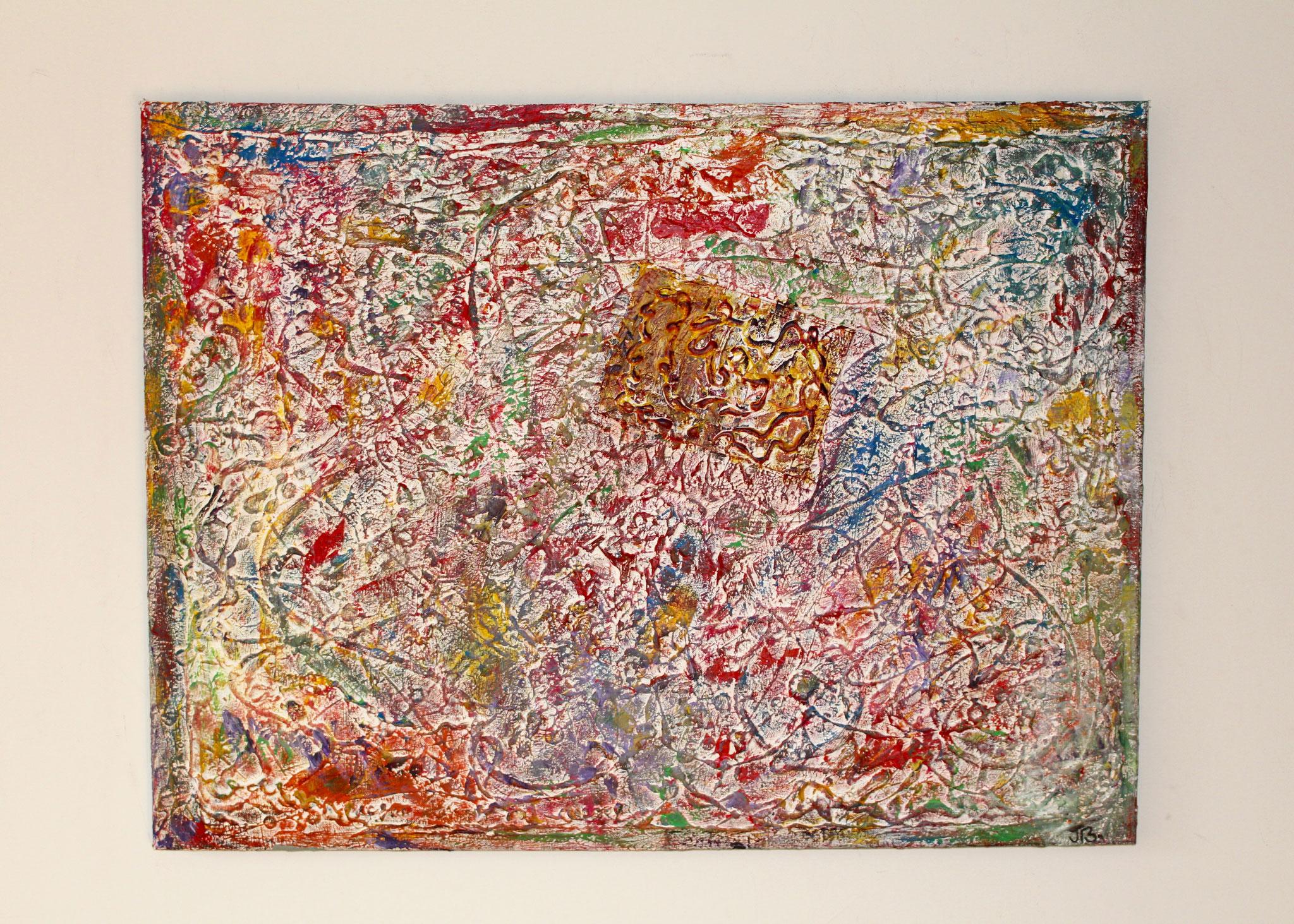 34. ''Colourful fossil.'' oil&acrylic paint (80x60cm)