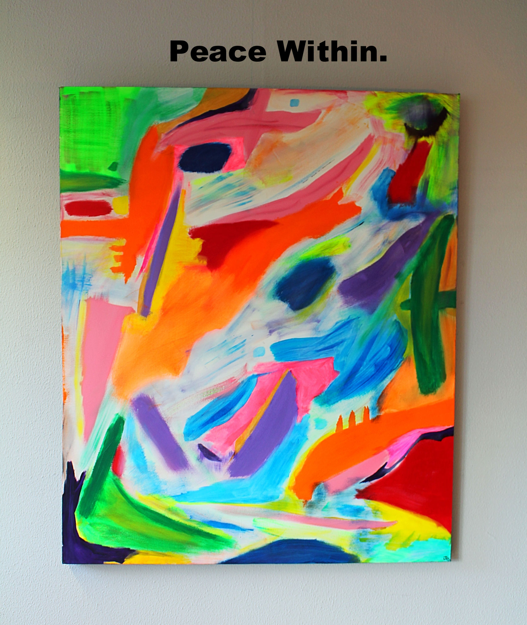 "18. ""Peace Within."" (110 x 100cm) Acrylic paint on canvas. 2015"