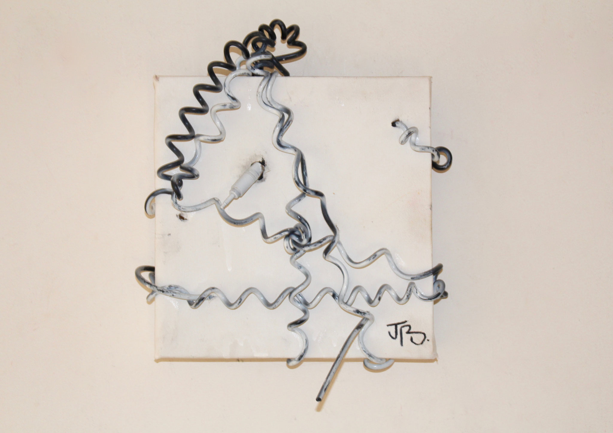 67. ''Disconnected Music.'' (20x20cm) spraypaint&wire. 2013