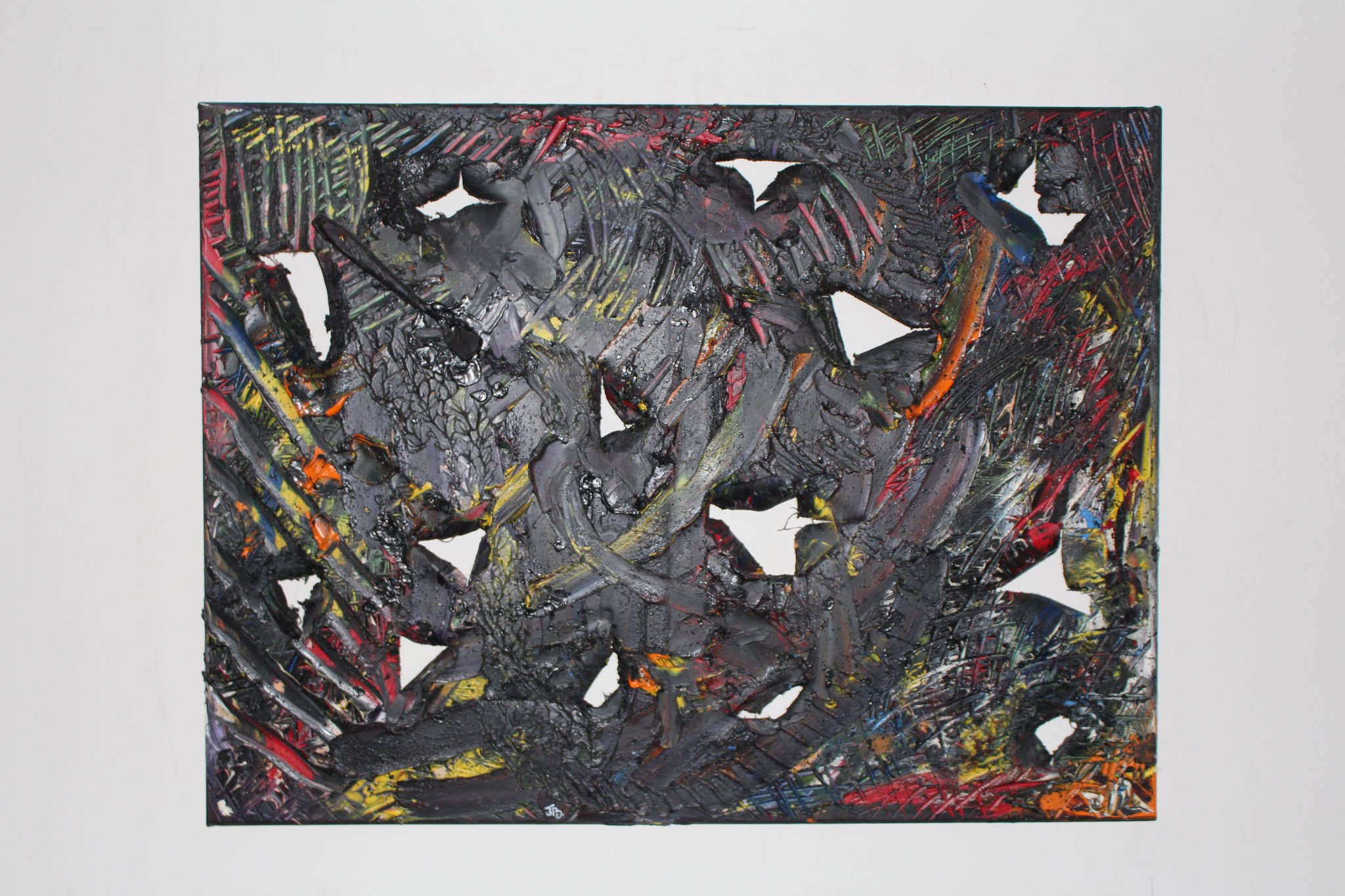 "32. "" Untitled. "" (80 x 60cm) Oil paint + palet knife on canvas. 2012 (€760)"