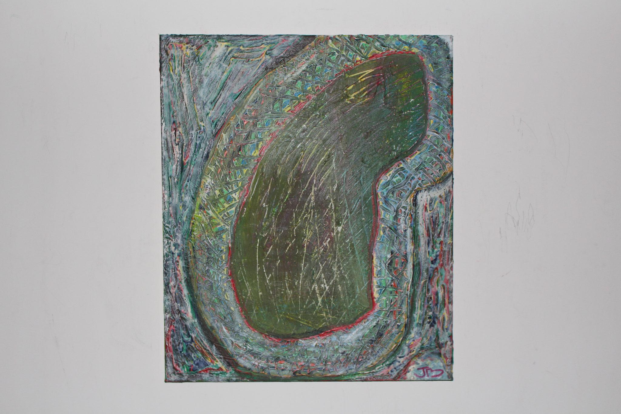 "27.  ""Colourful womb. "" (60 x 50cm) Acrylic & oil paint on canvas. 2008"