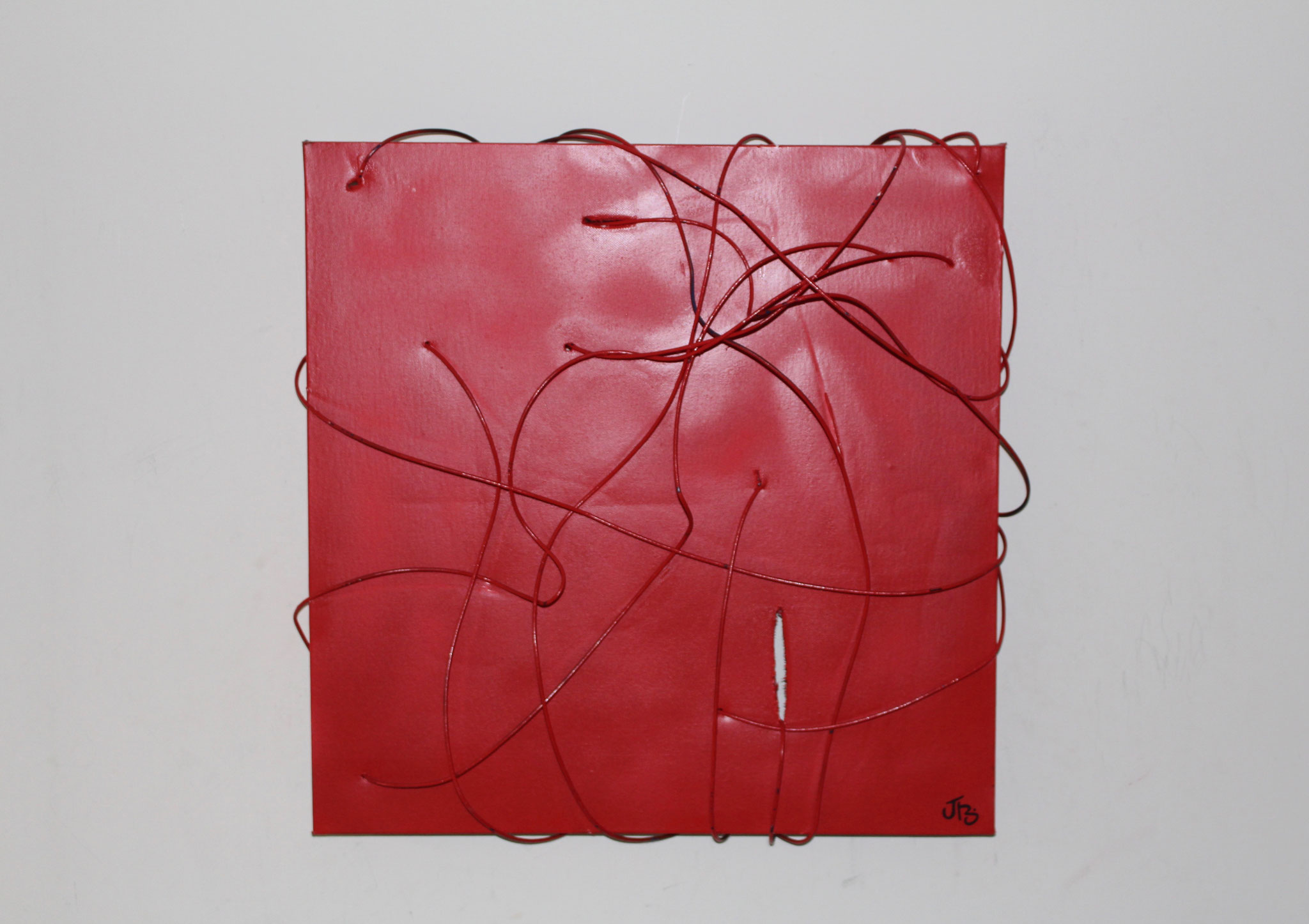 37. ''Untitled.'' (50x50cm)    wire&spraypaint    (€600)
