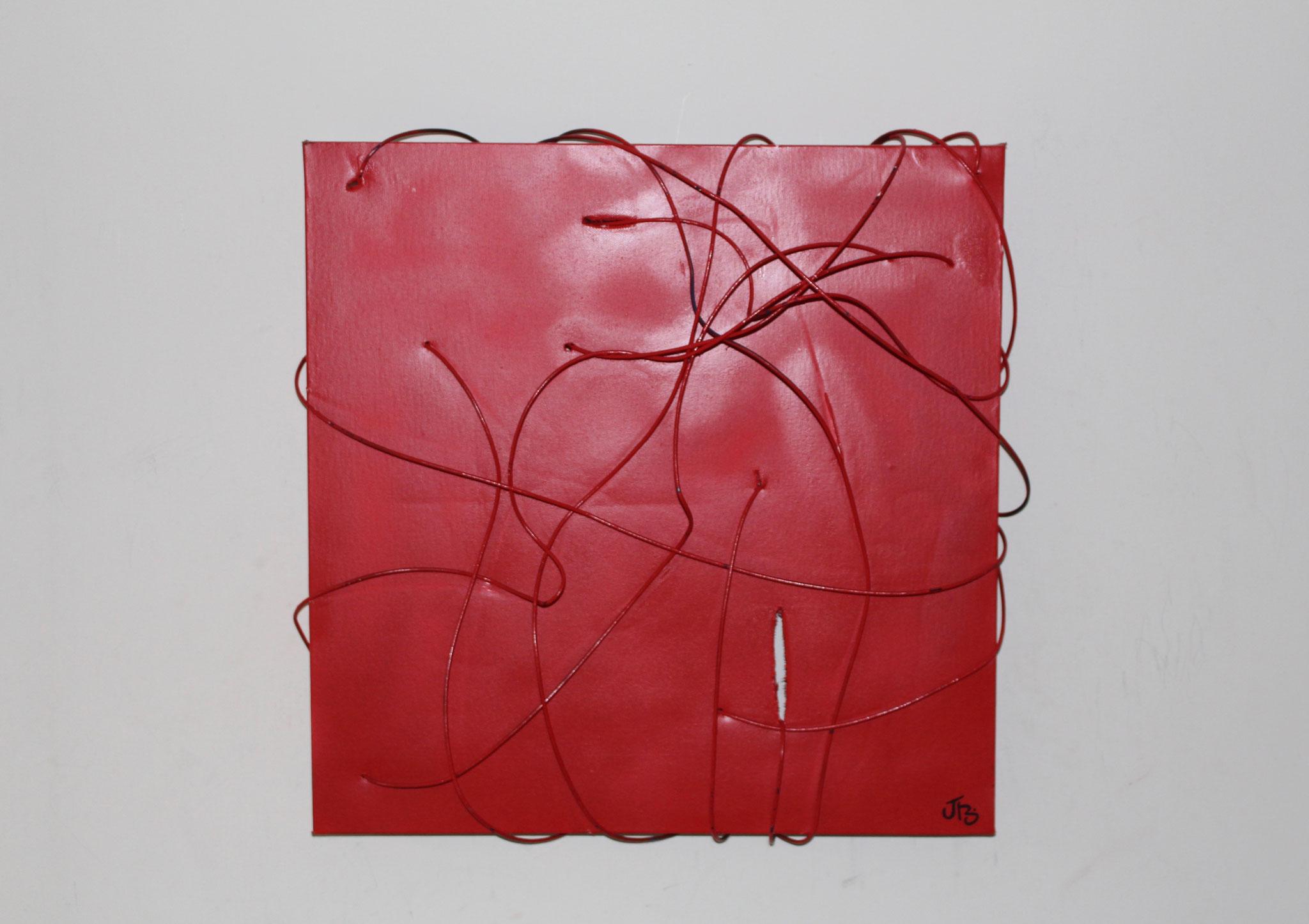 37. ''Untitled.'' (50x50cm)    wire&spraypaint