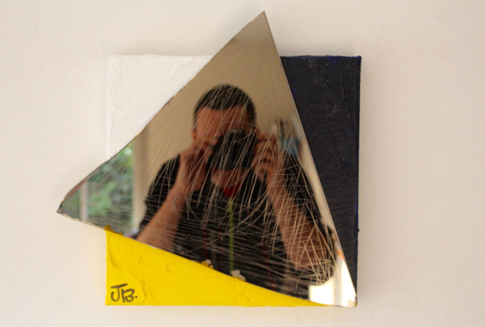 13.''Untitled.'' (30x30cm) oil paint& mirror