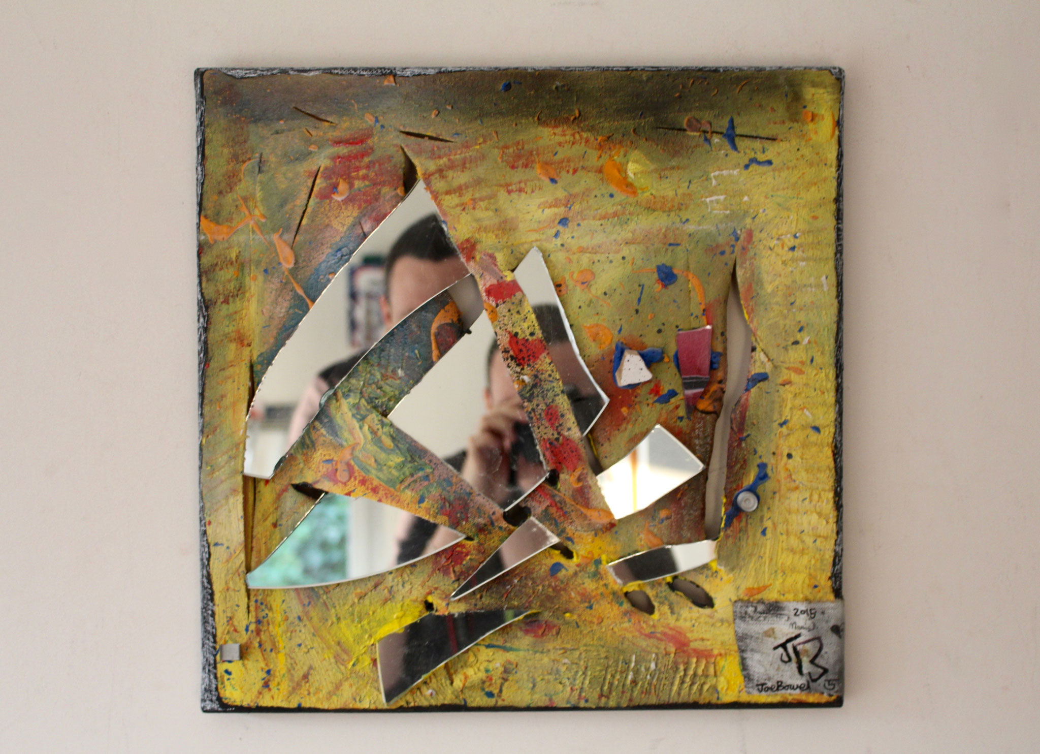 8. ''Untitled.'' (40x40cm) Mixed media with mirror 2015.
