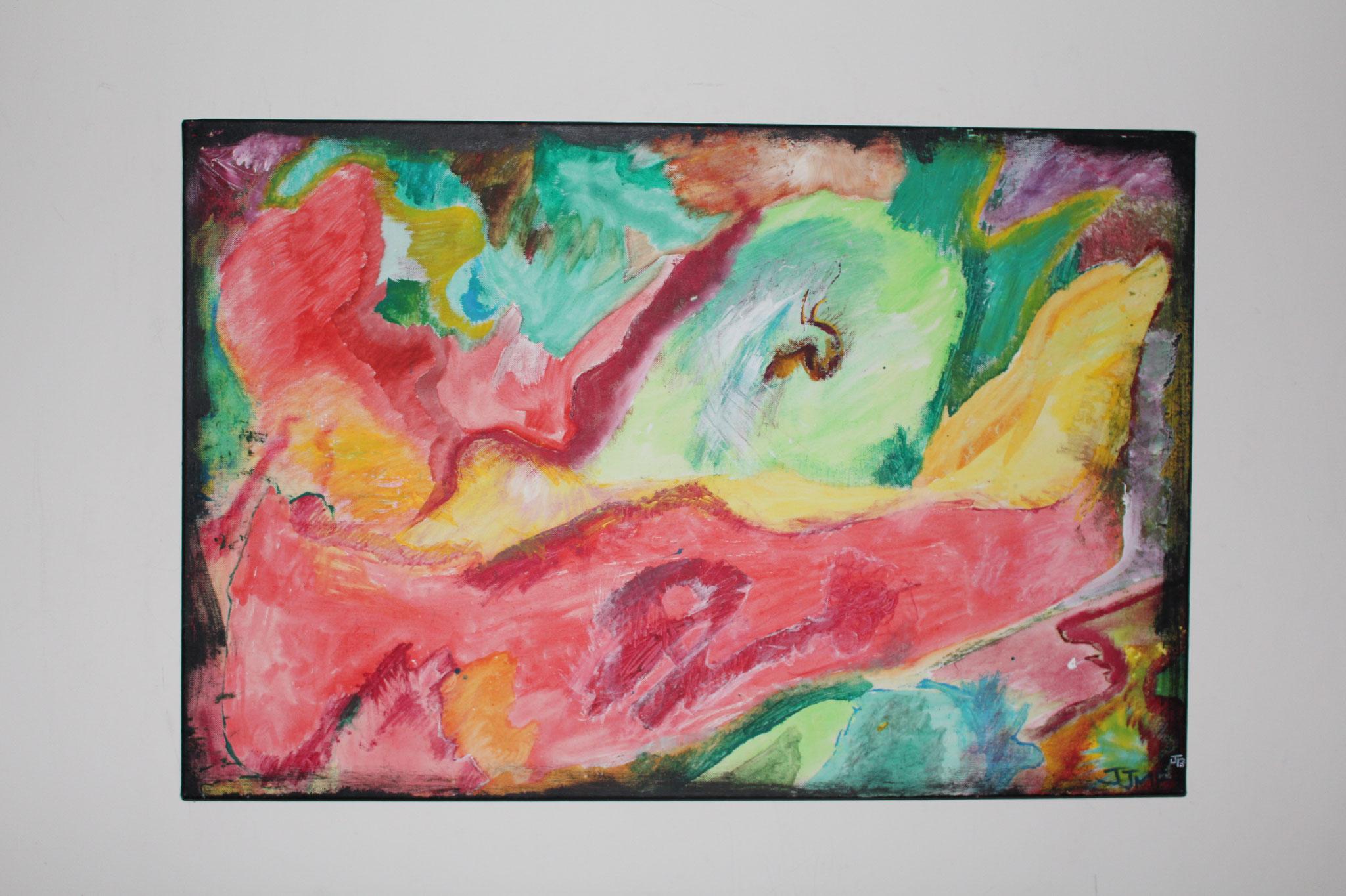 "25. "" Untitled. "" (90 x 60cm) Acrylic paint on canvas. 2006"