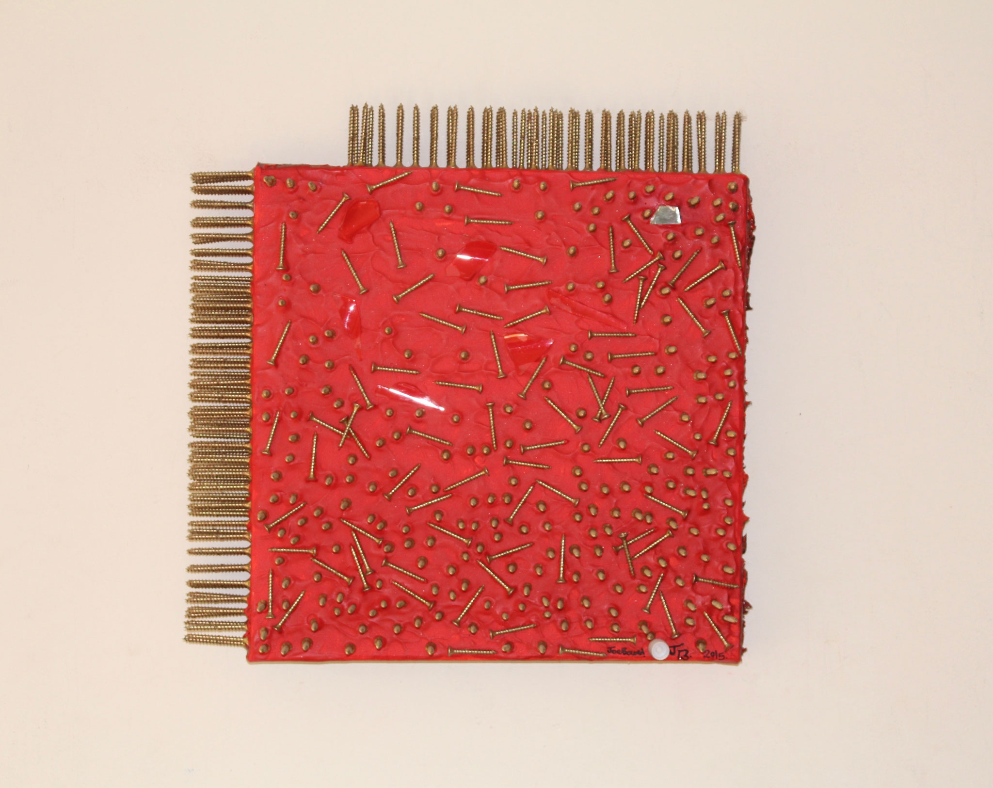 31. ''Untitled.'' (30x30cm) nails&acrylic +glass&mirror     (€700)