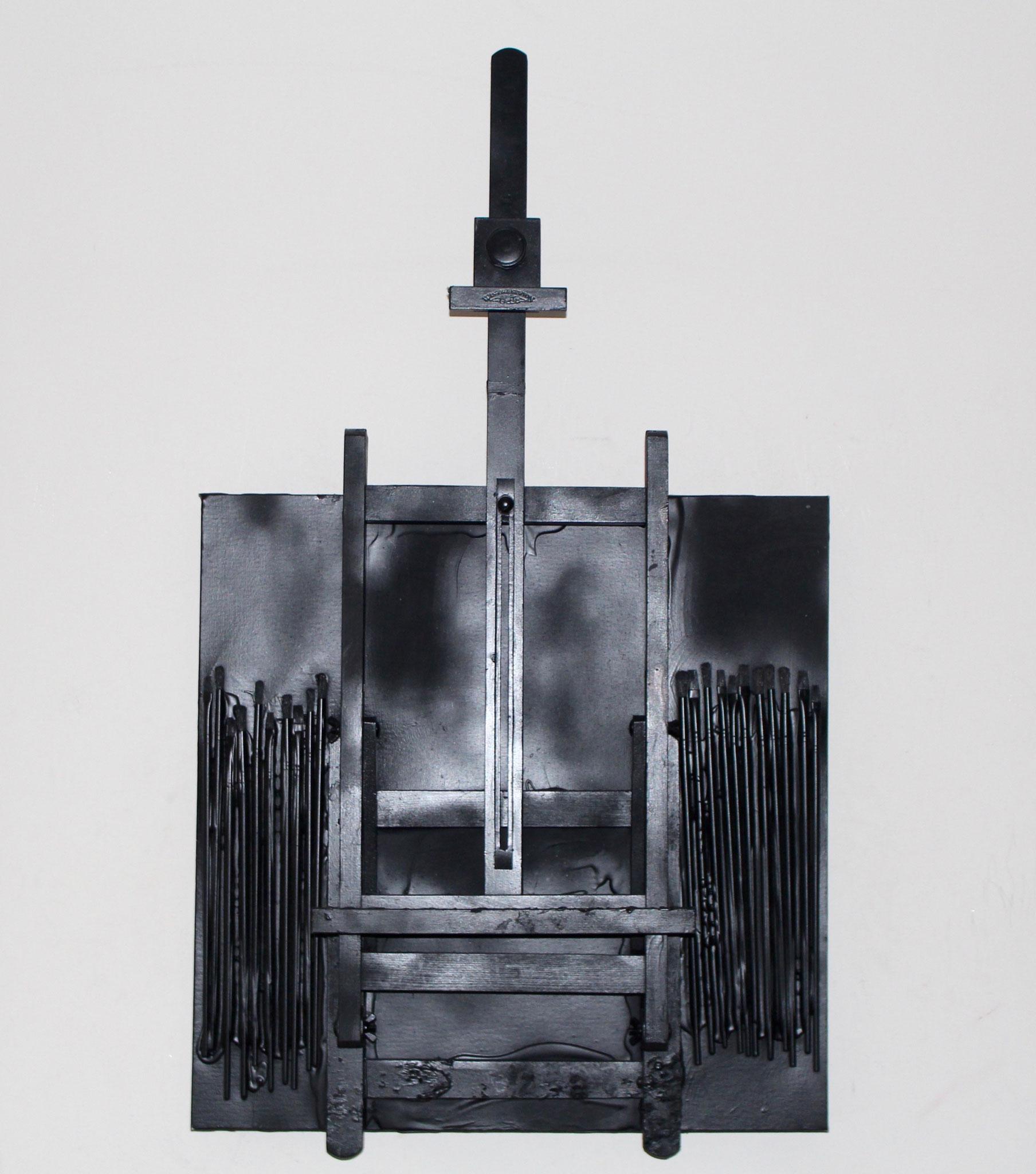 38. ''Black Easel.''  Acrylic&spraypaint.   (€1200)