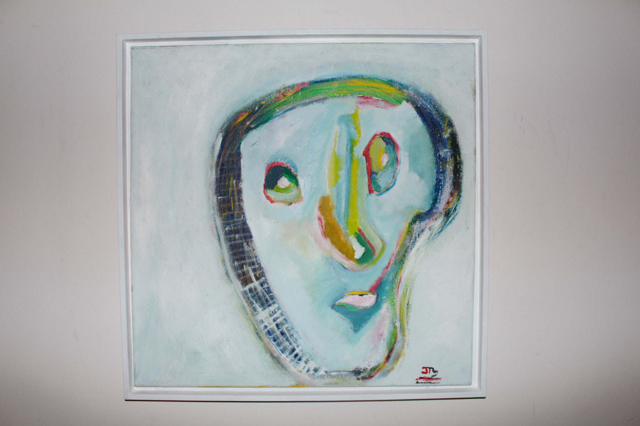 "10. "" Head of Expression. "" (60 x 60cm) Acrylic & oil paint on canvas with frame. 2008"