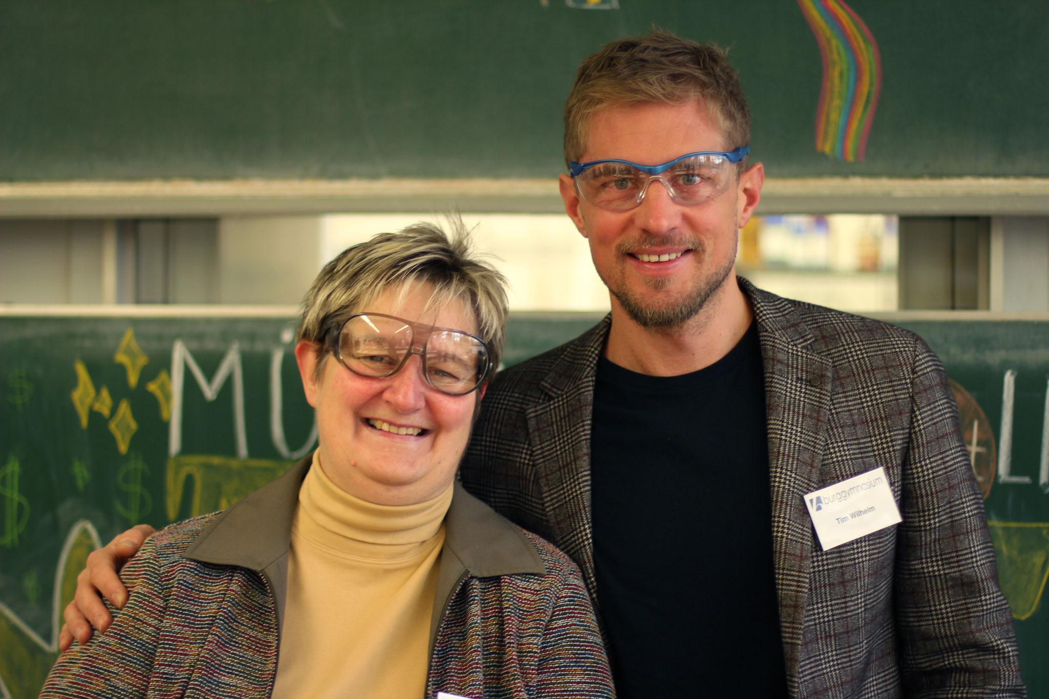 Die Fachschaft Chemie: Sabine Becker und Tim Wilhelm
