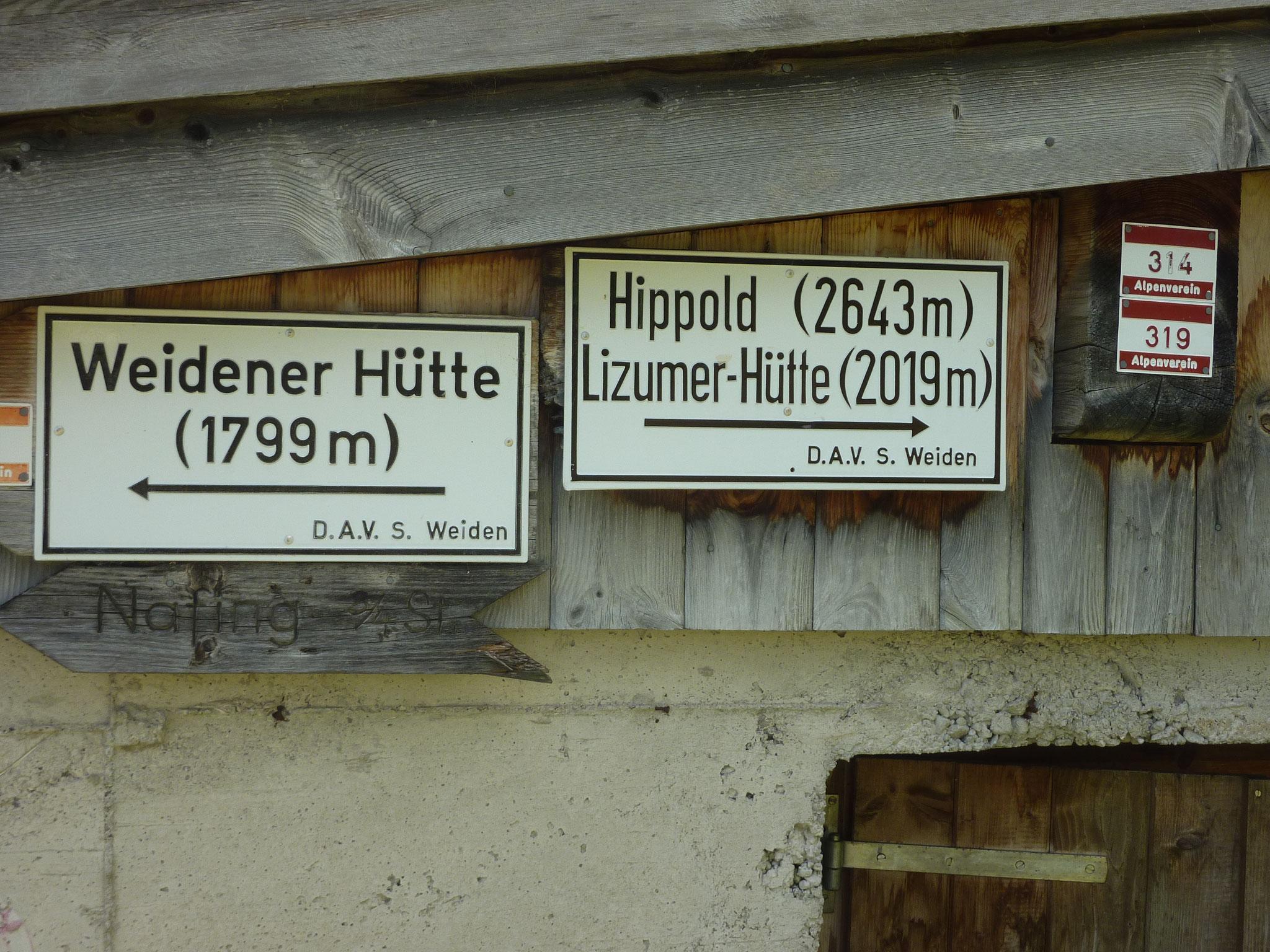 im Weertal zur Weidener Hütte bzw. Lizumerhütte