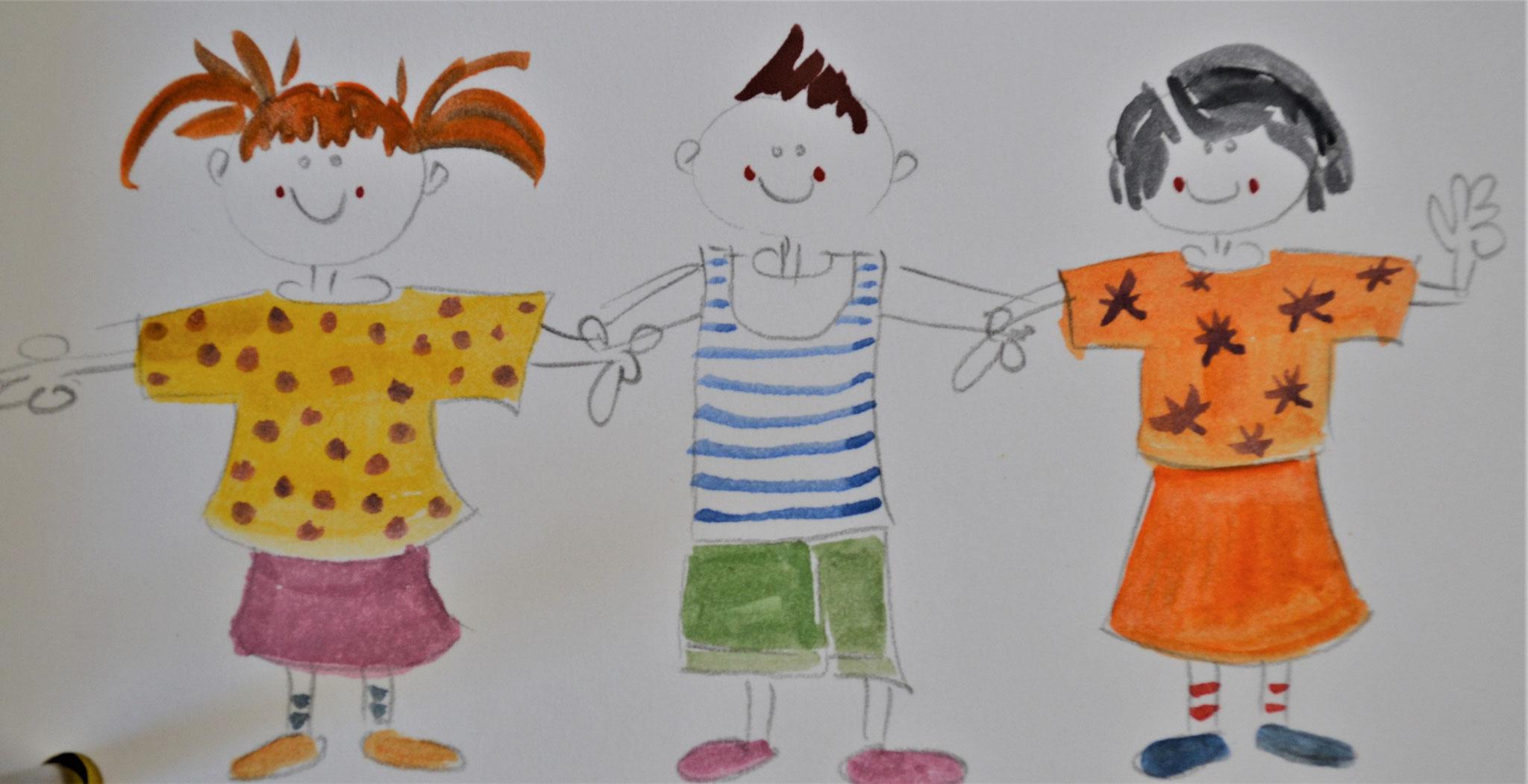 Skizze Kinder