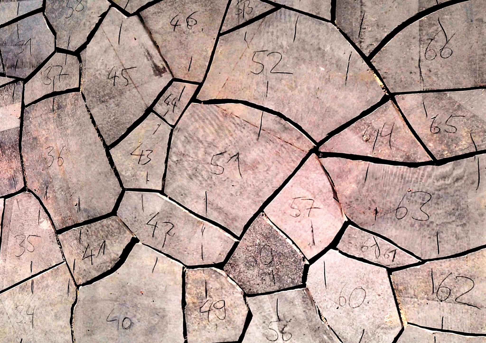 Polygonalplatten Verlegenummerierung
