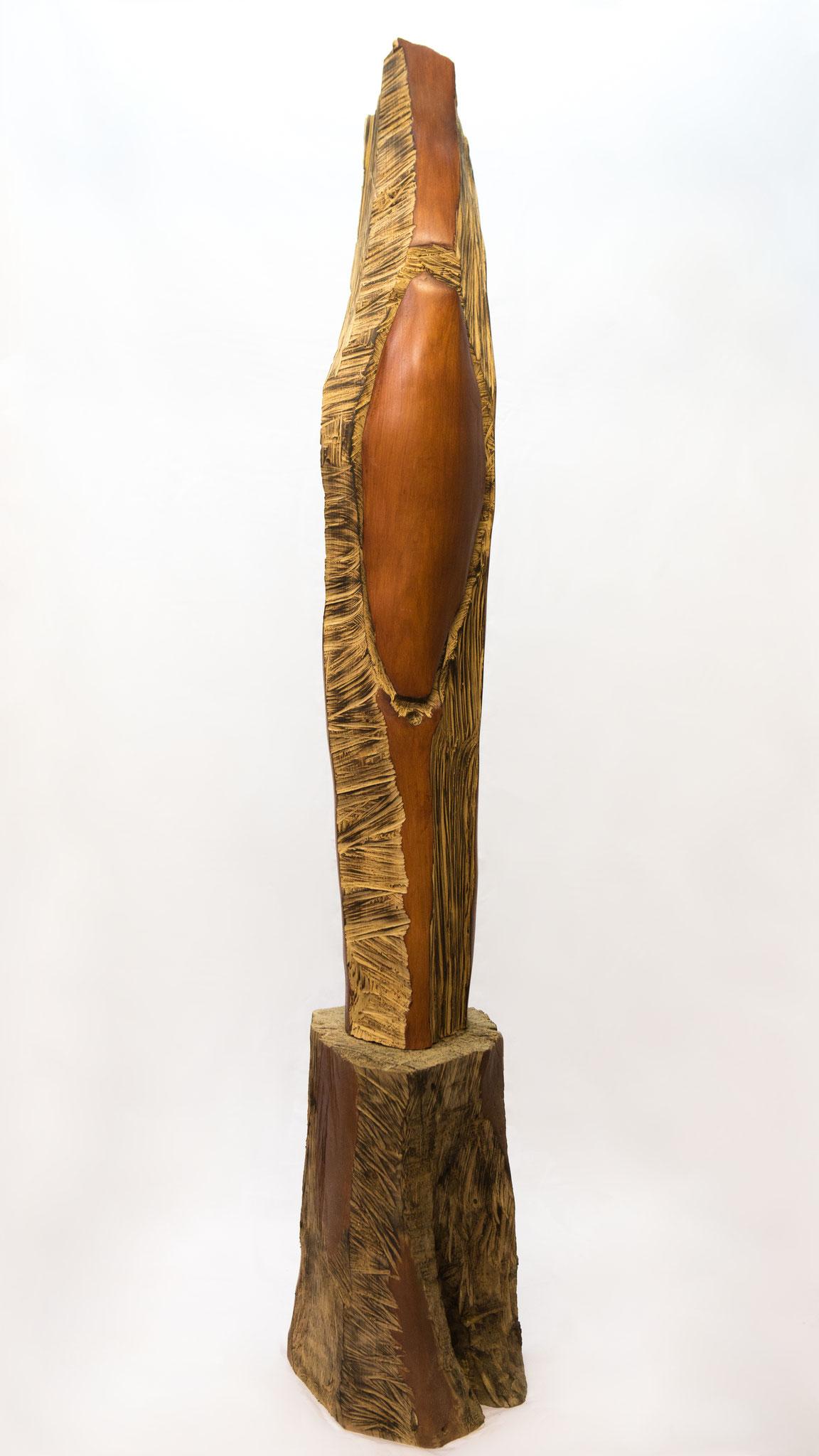 """"""" le soleil se lève sur Goa """"  (  merisier  )  180  cm"""