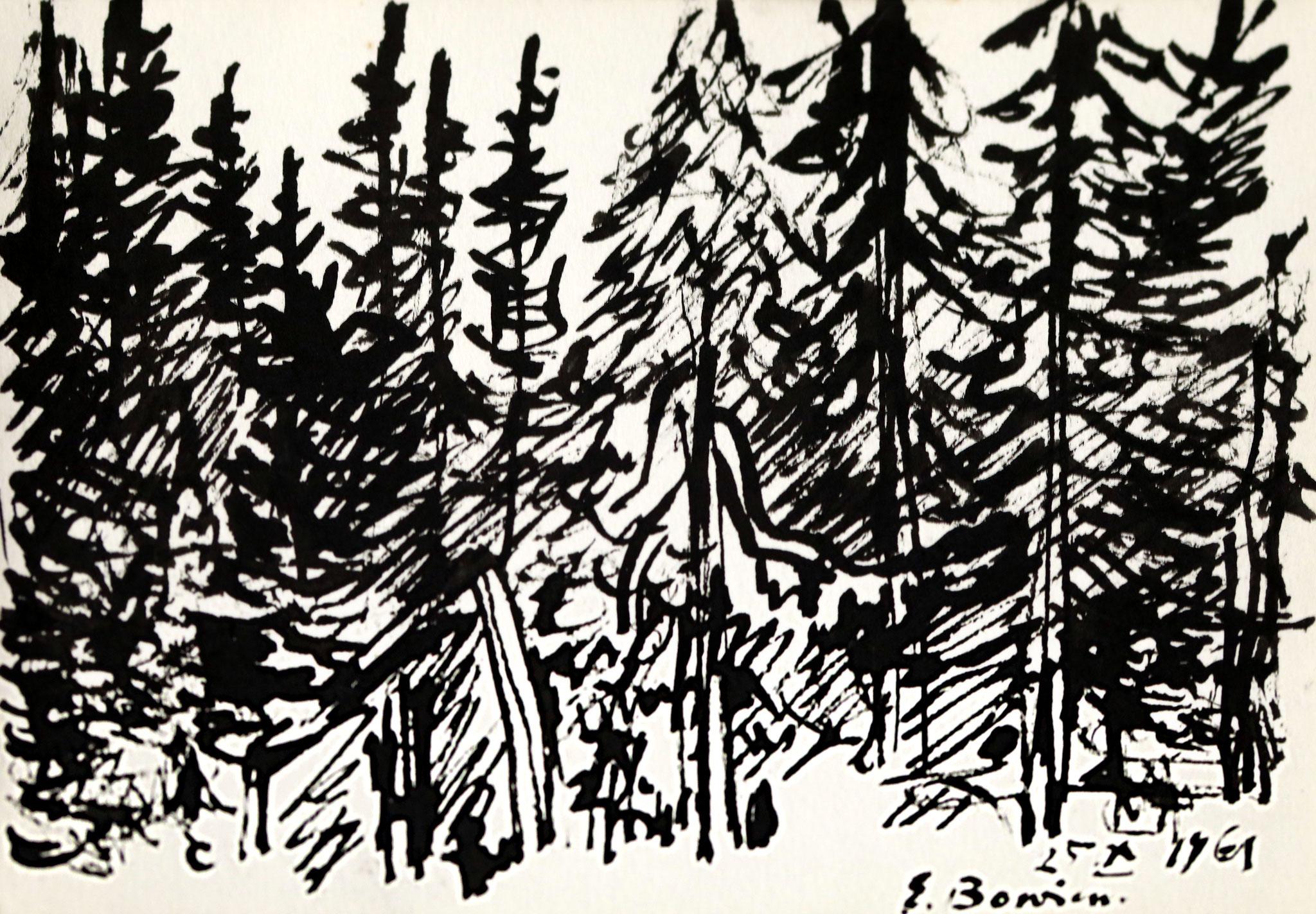 Erwin Bowien (1899 - 1972) – Norwegischer Wald, 1961