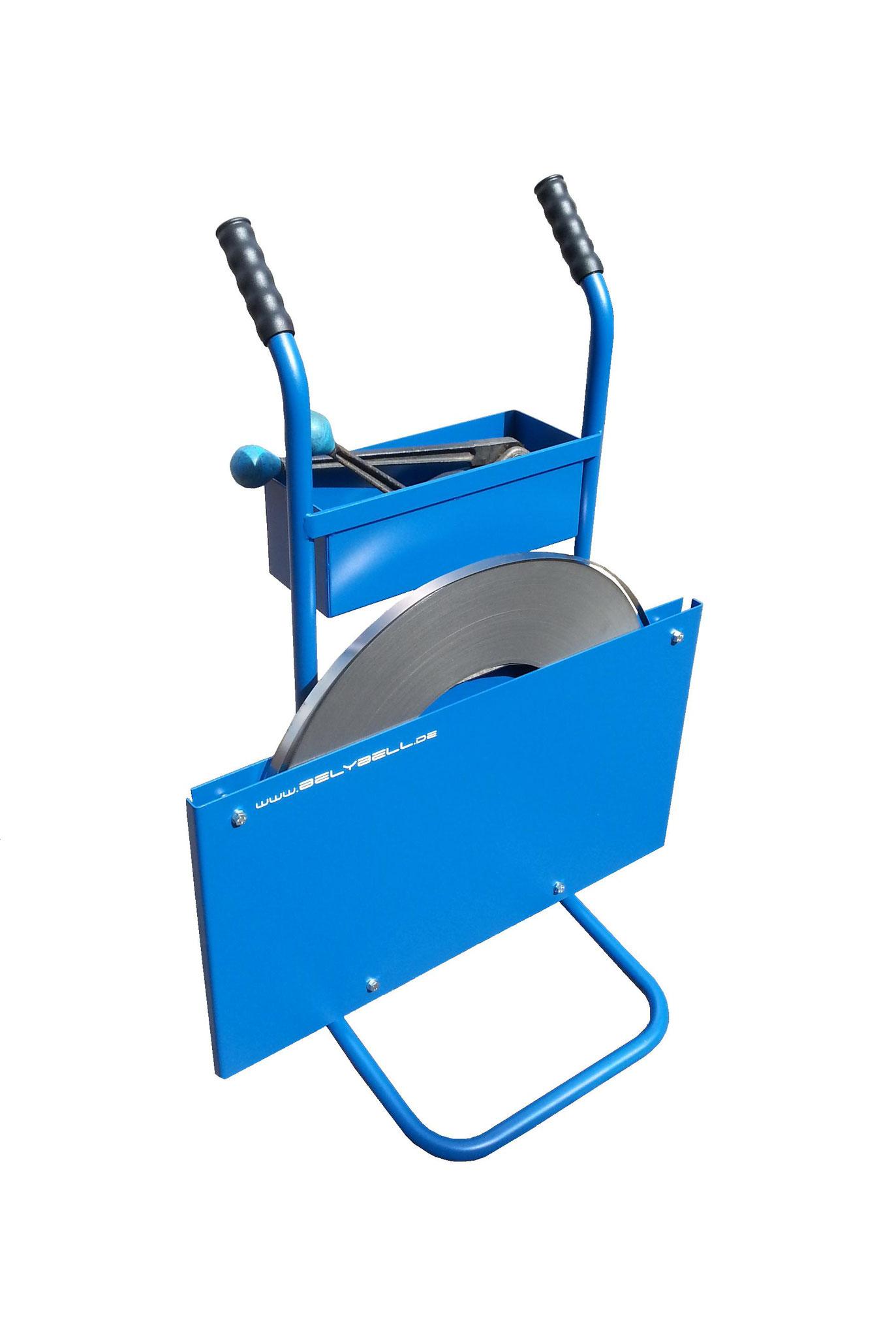 mit Abroller und Stahlband (Beispielfoto)