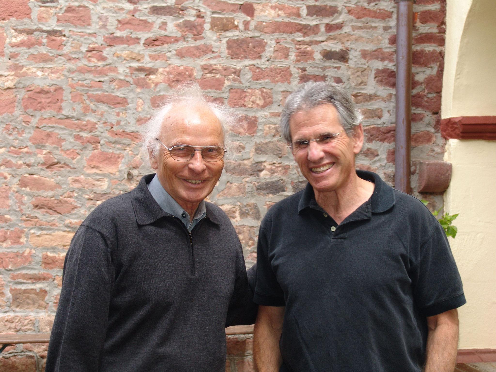 Willgis Jäger (links) und Dr. Jon Kabat-Zinn
