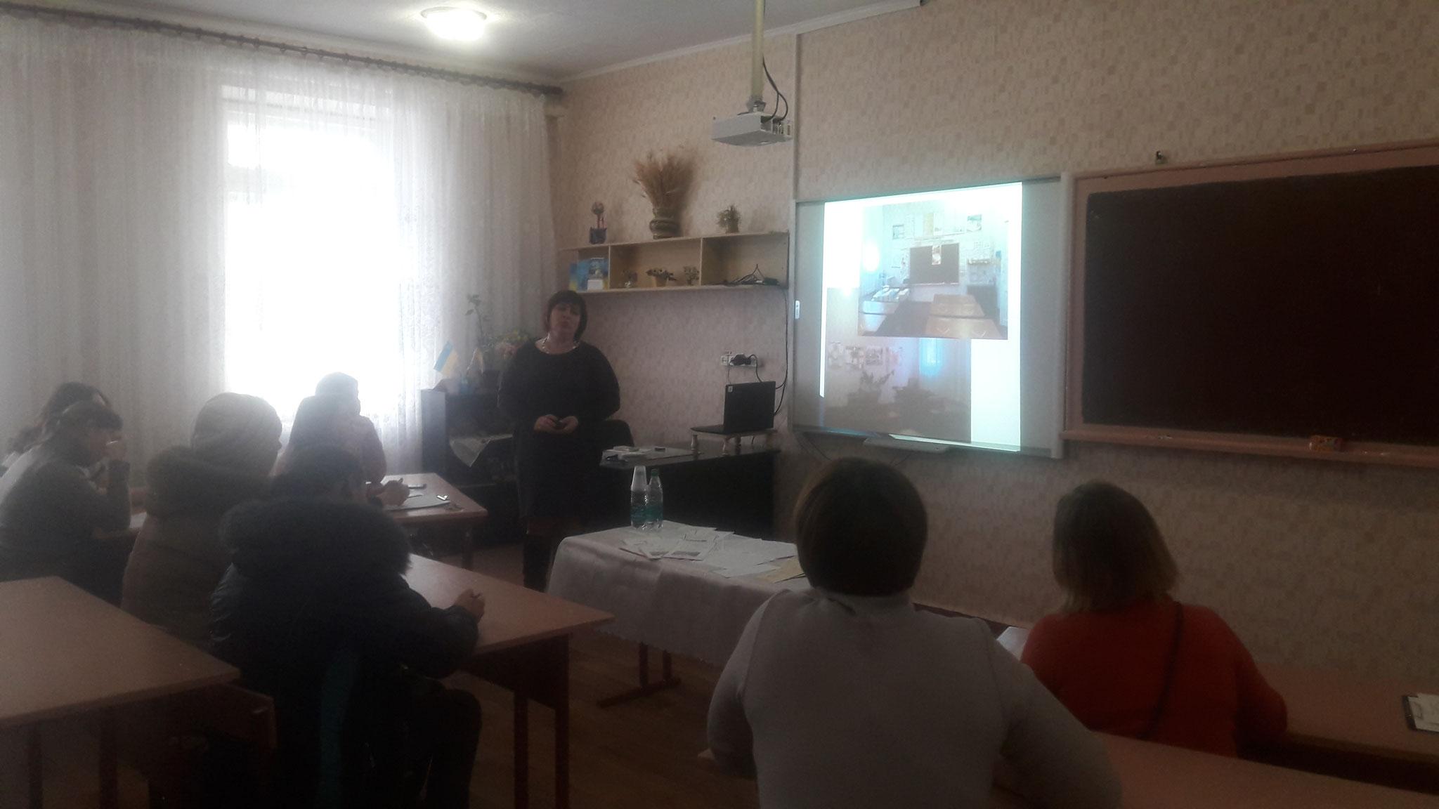 Директор школи Ольхова С.М. Візитка школи.