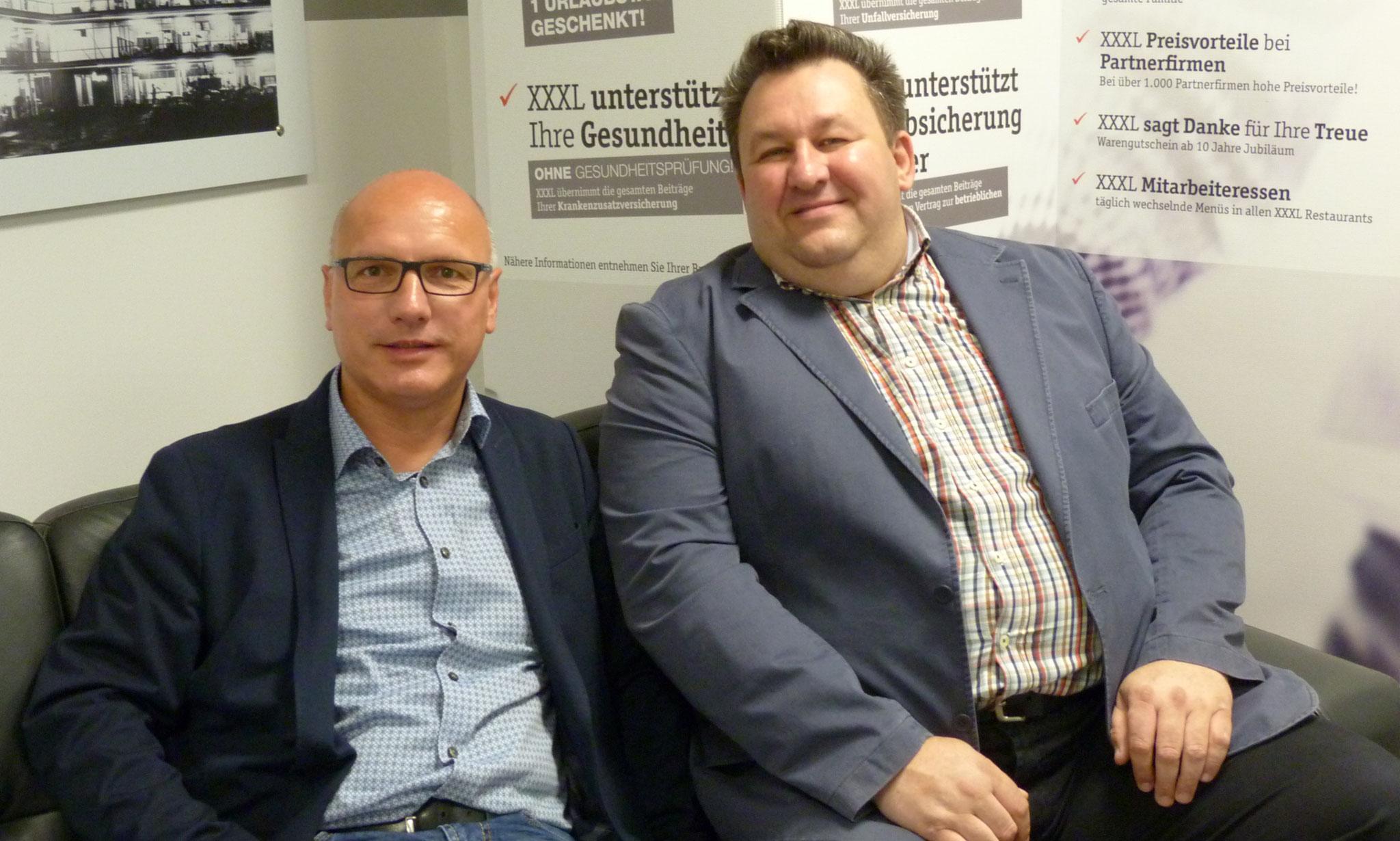 Joachim Lörzer und Johannes Scherm ziehen gemeinsam an einem Strang.