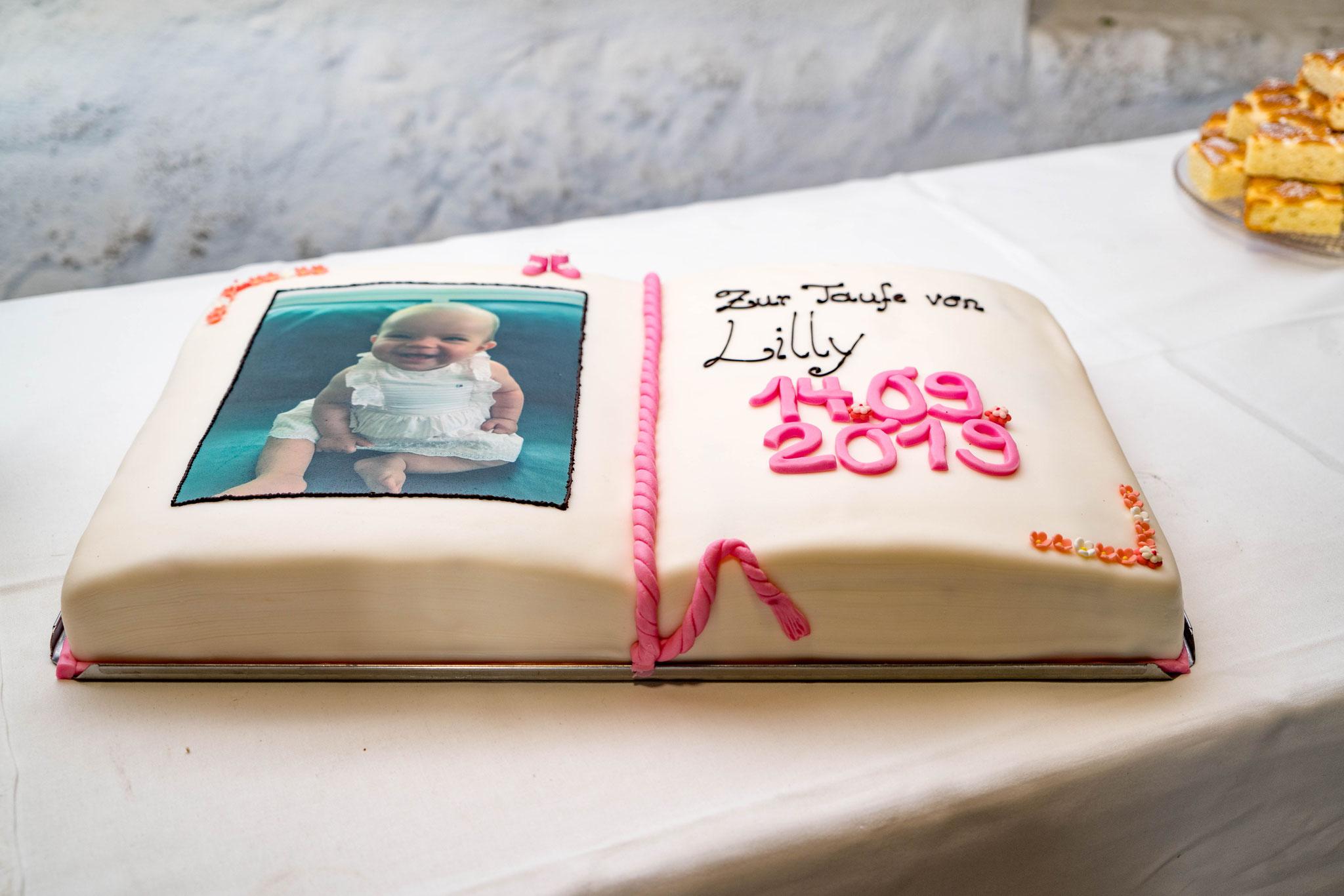 zum Beispiel meine Tauf-Torte....