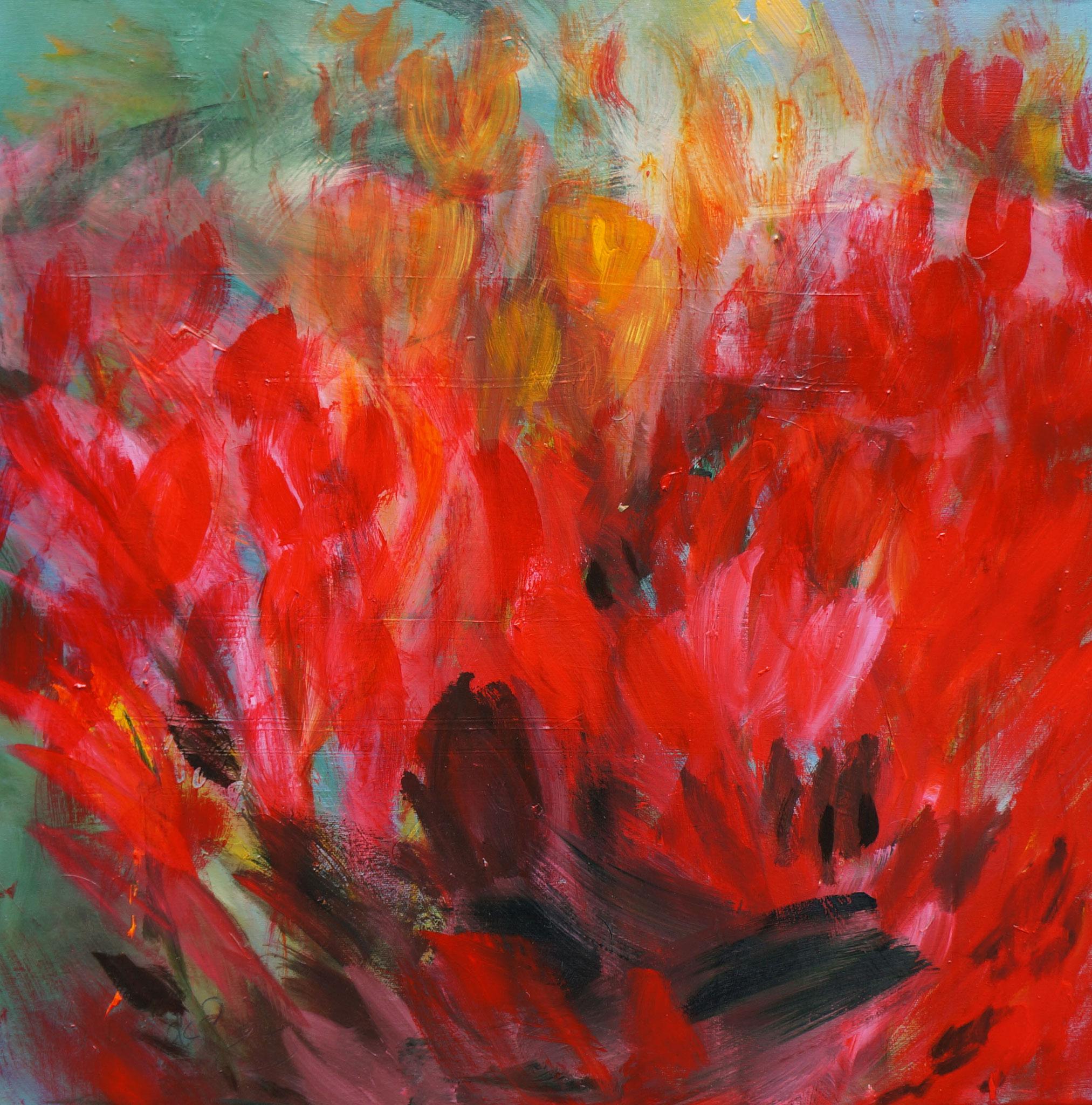 Umarmung, 80 x 80 cm, Acryl auf Leinwand