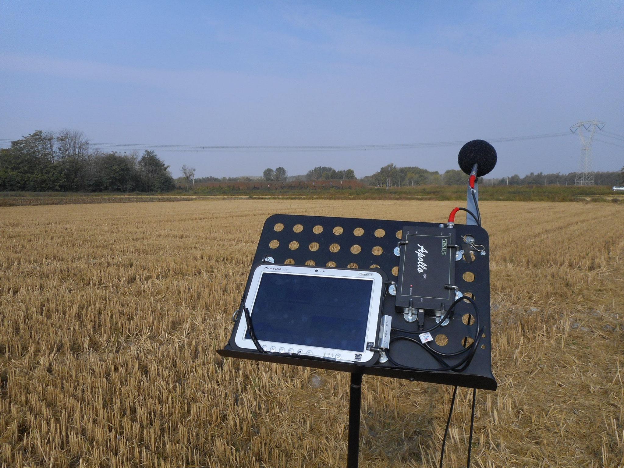 Rilievi fonometrici in sito con fonometro integratore bicanale