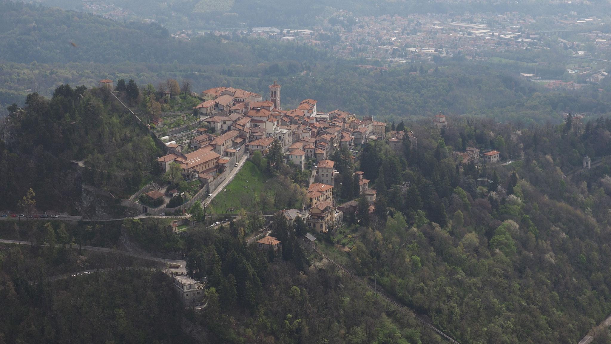Blick auf Sacro Monte
