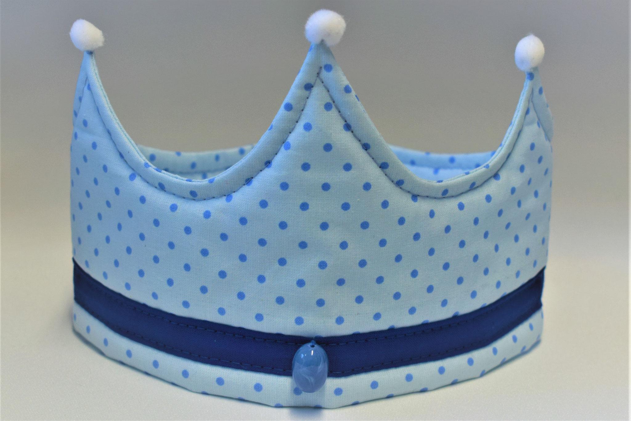hellblau gepunktet mit blauer Bordüre, 17,50€