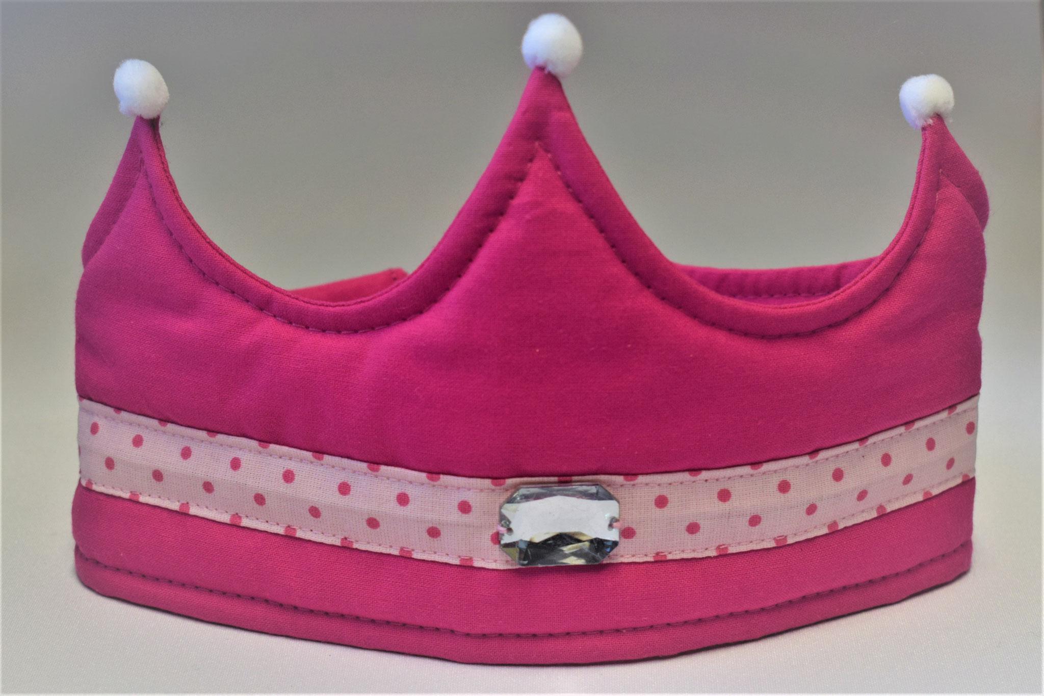 pink mit rosagepunkteter Bordüre, 17,50€