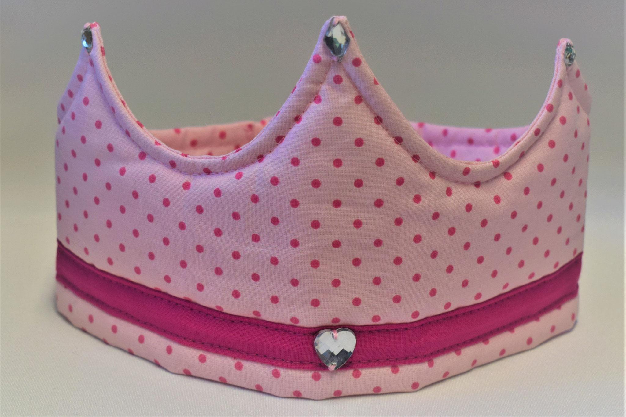 rosa gepunktet mit pinker Bordüre, 17,50€