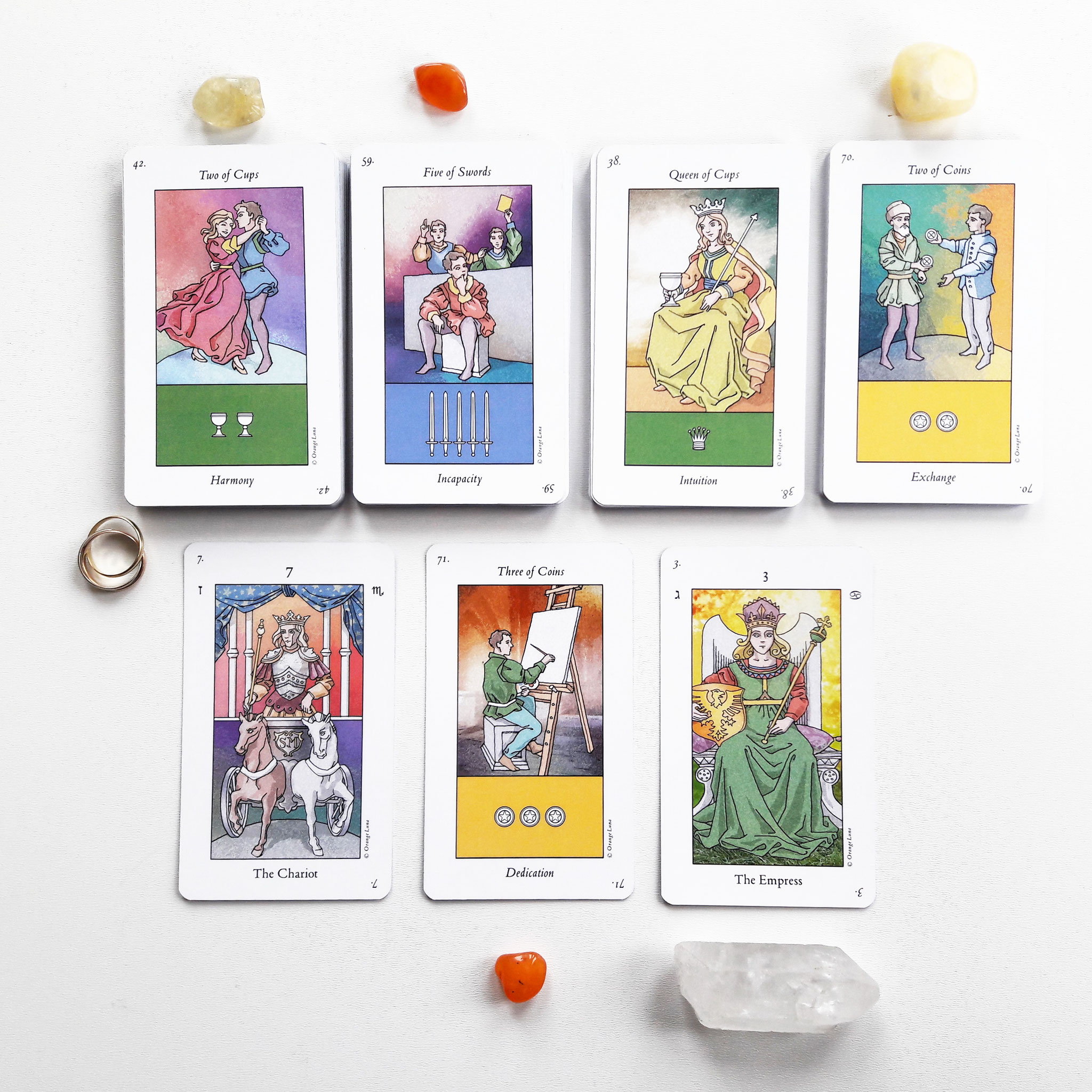 Orange Luna Tarot