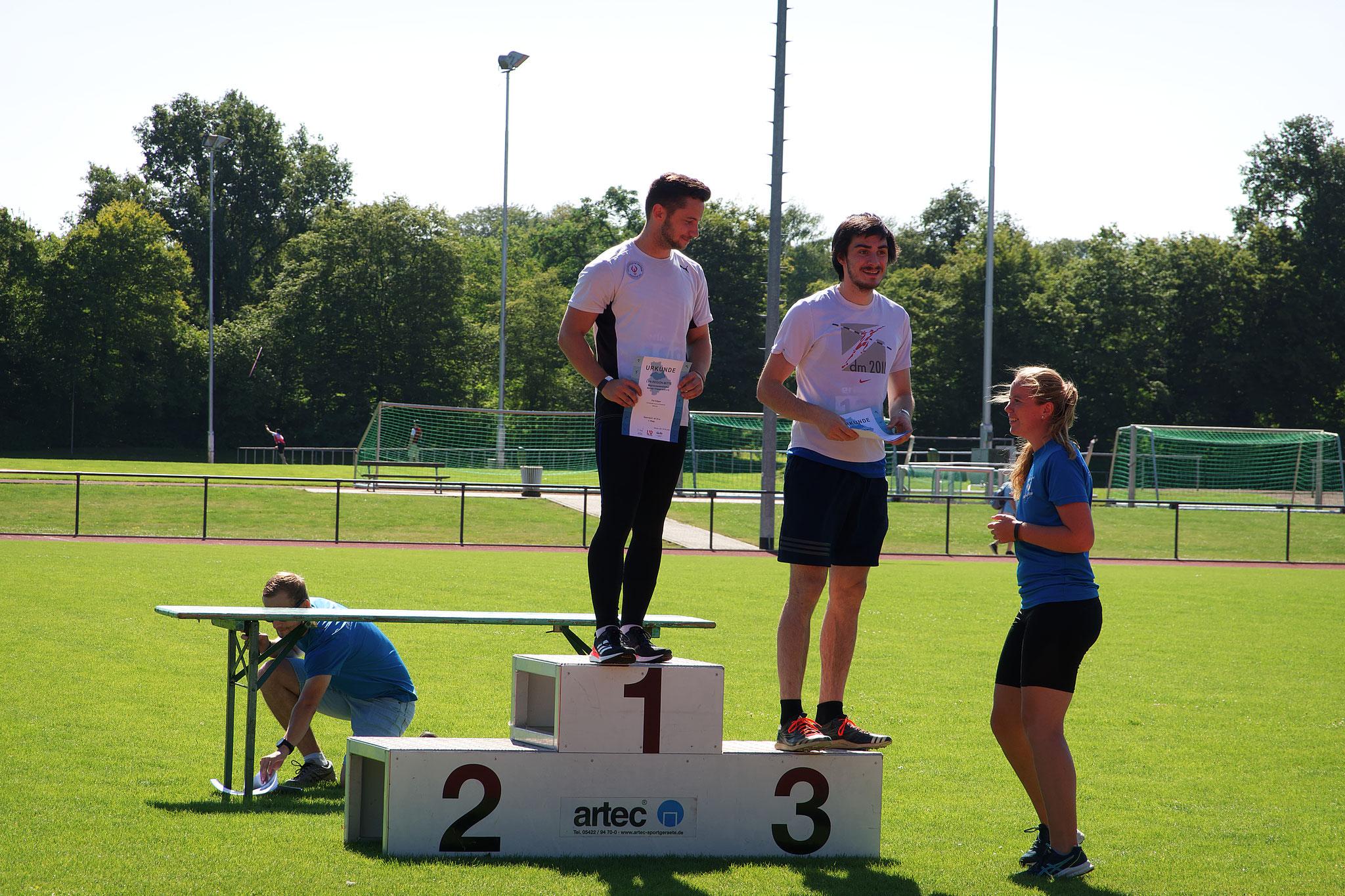 Siegerehrung: Tim Ediger (Platz 1)