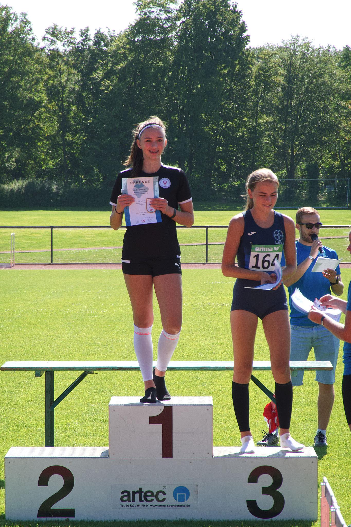 Siegerehrung: Yara Böhmer (Platz 1)