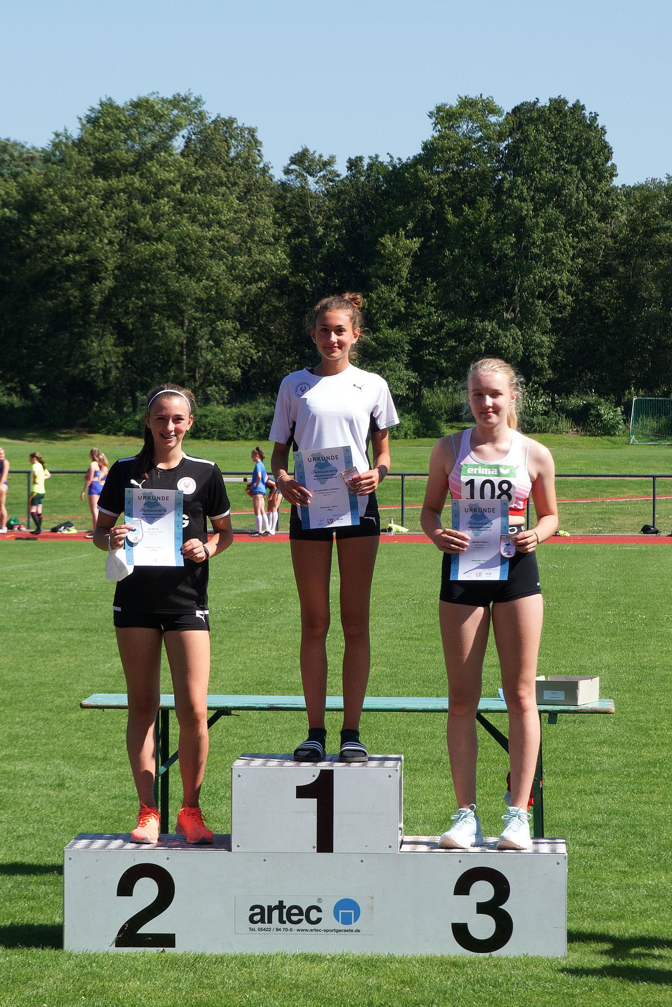 Siegerehrung: Ava Lindemann (Platz 1) und Yara Böhmer (Platz 2)