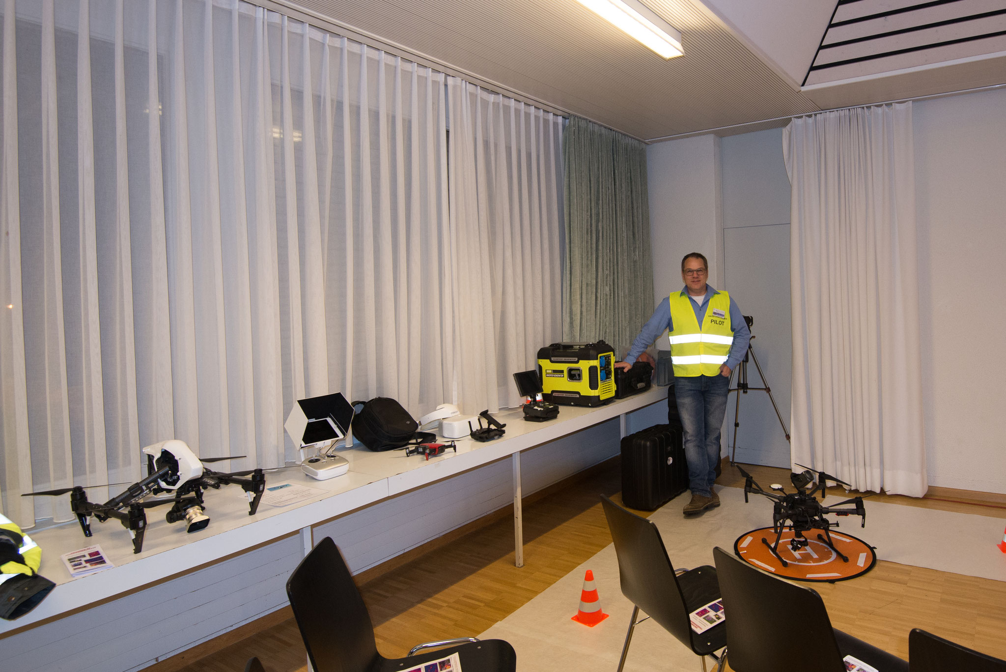 Christian Feldmann mit seinem Equipment
