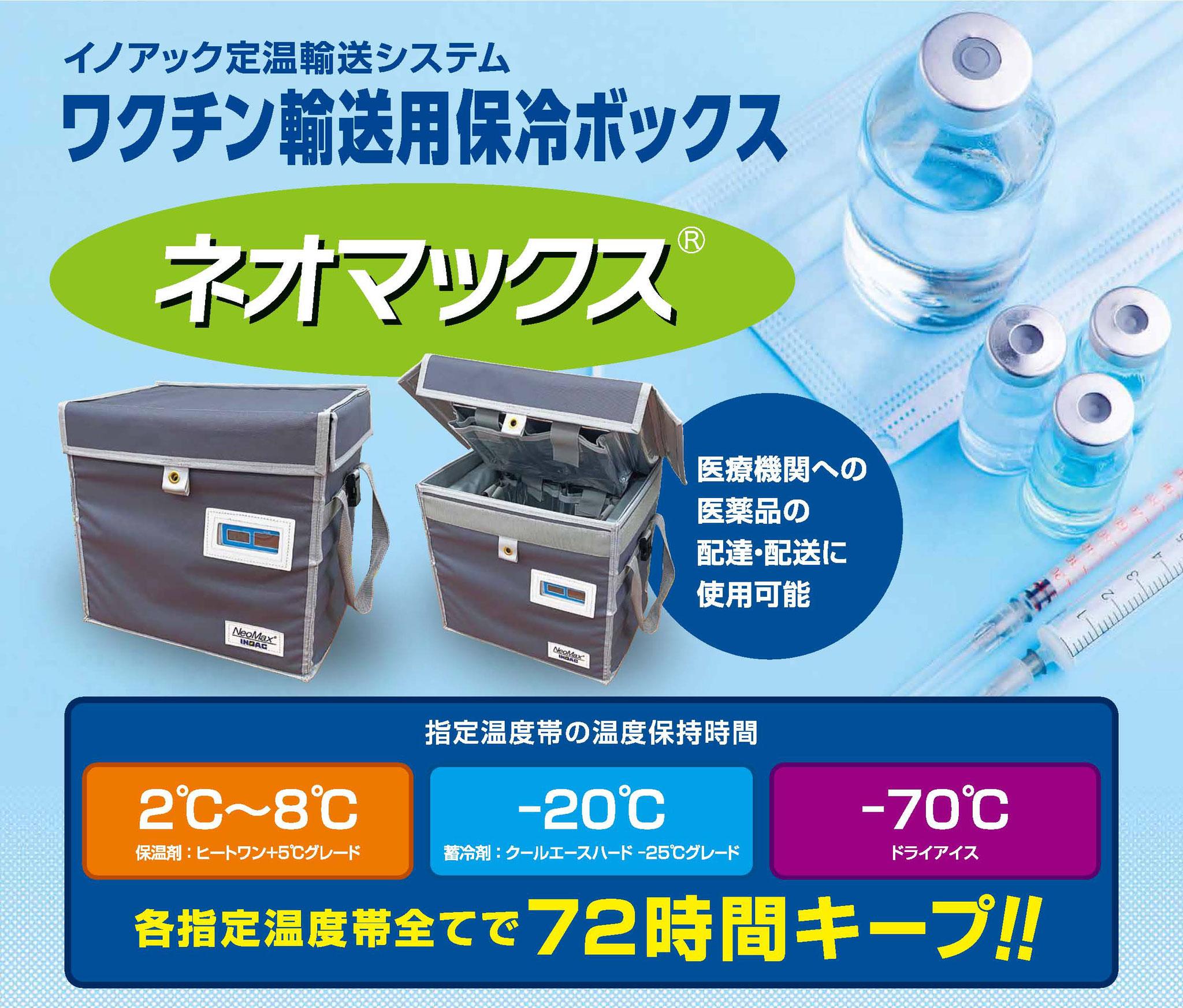 ワクチン輸送用保冷ボックス『ネオマックス🄬』
