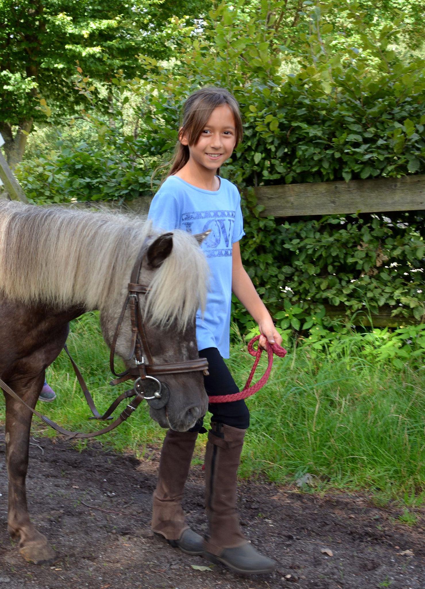 Pferdepflegerin im August 2017