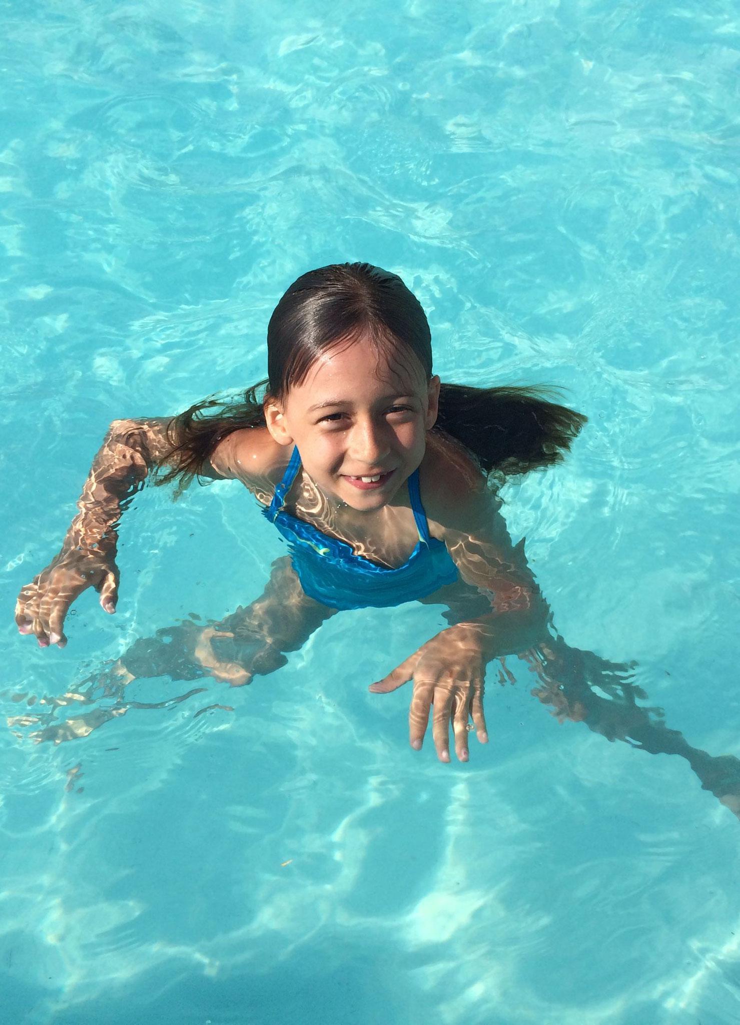 Juli 2016 auf Mallorca im Pool