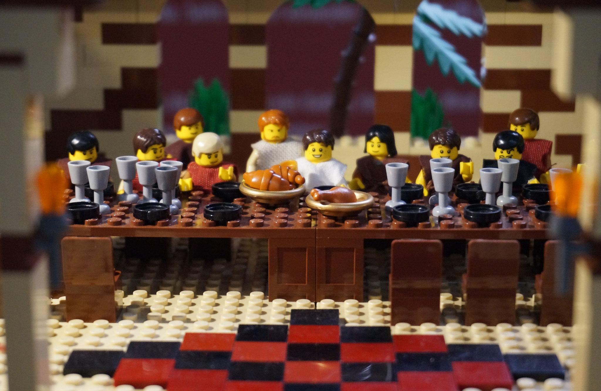 2. Station - Jesus feiert das letzte Abendmahl