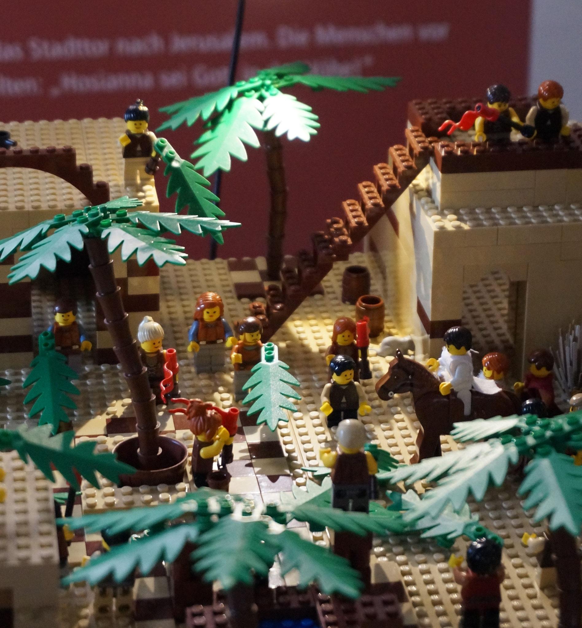 1. Station - Jesus zieht in Jerusalem ein