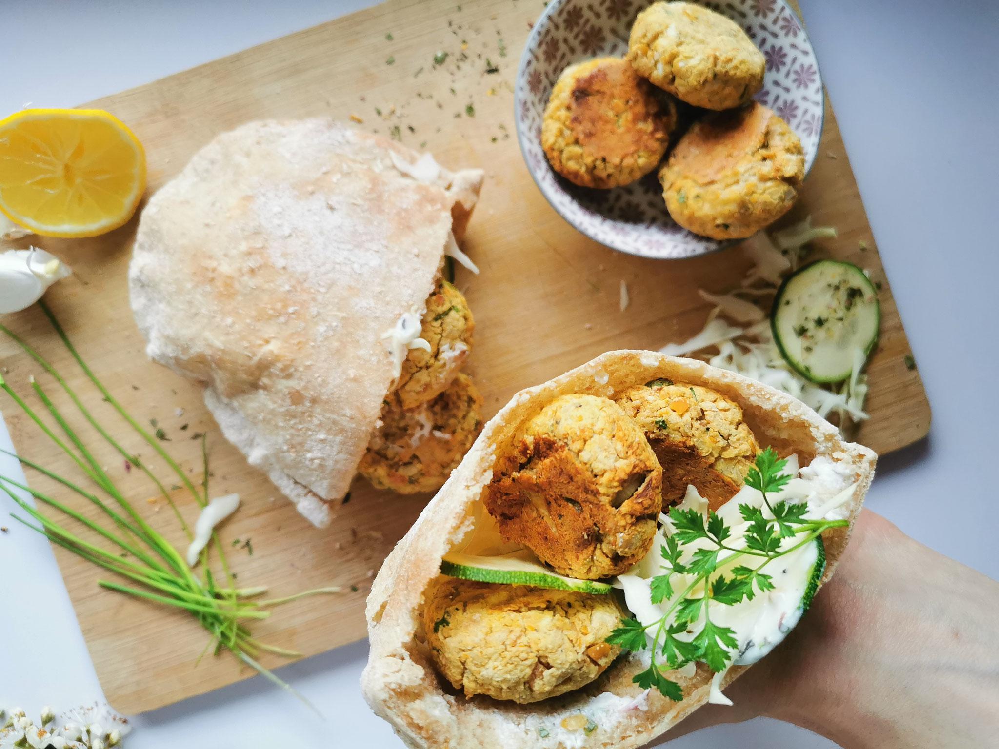 Falafel im Pitabrot