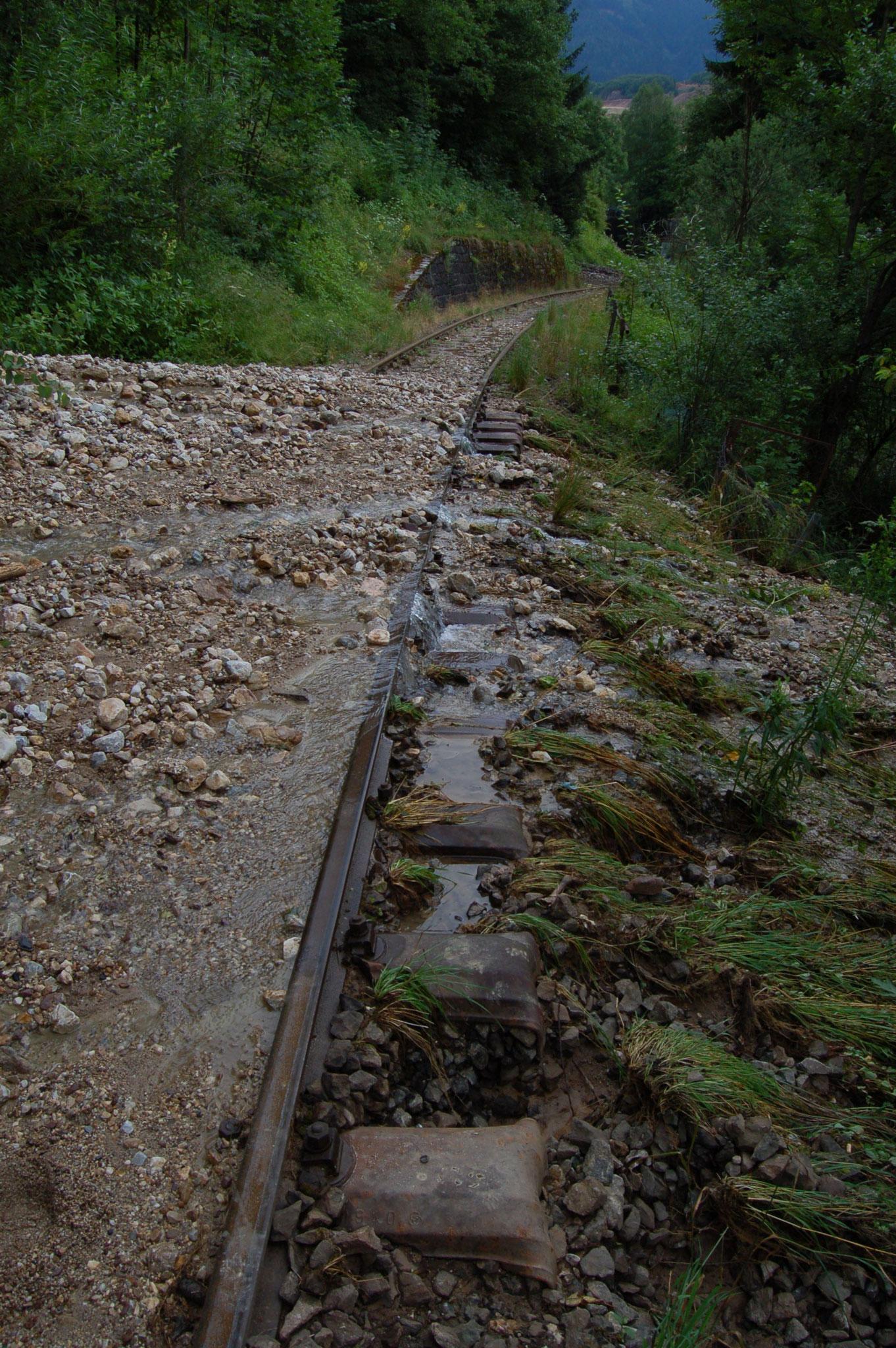 Das Wasser bahnt sich bei km 2,1 seinen Weg