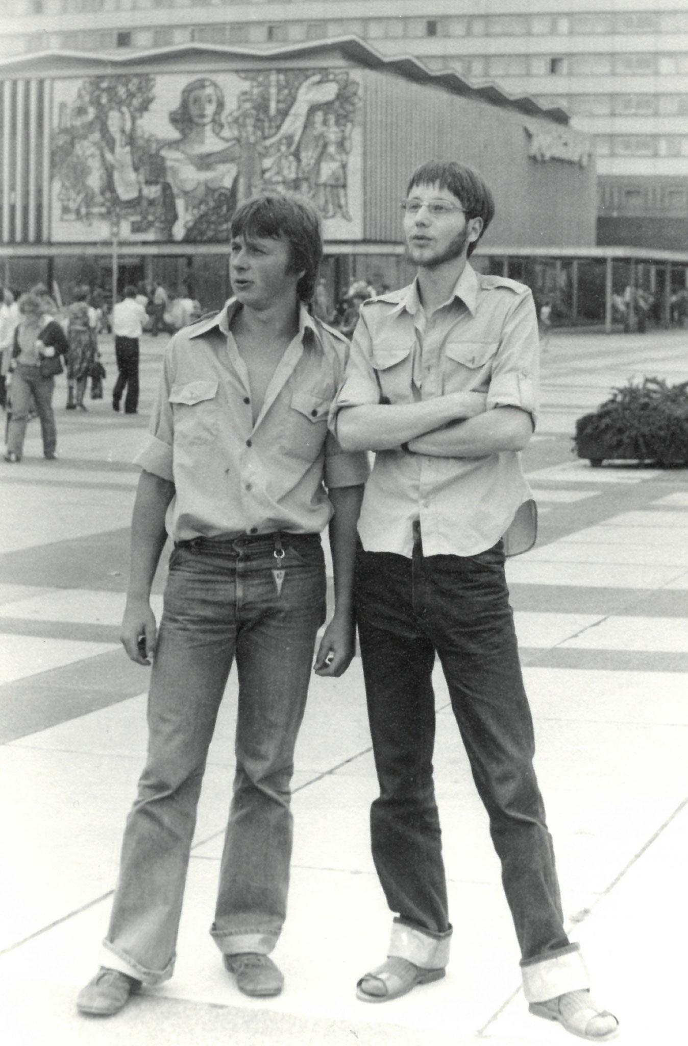 Mit Freund in Dresden - 1977