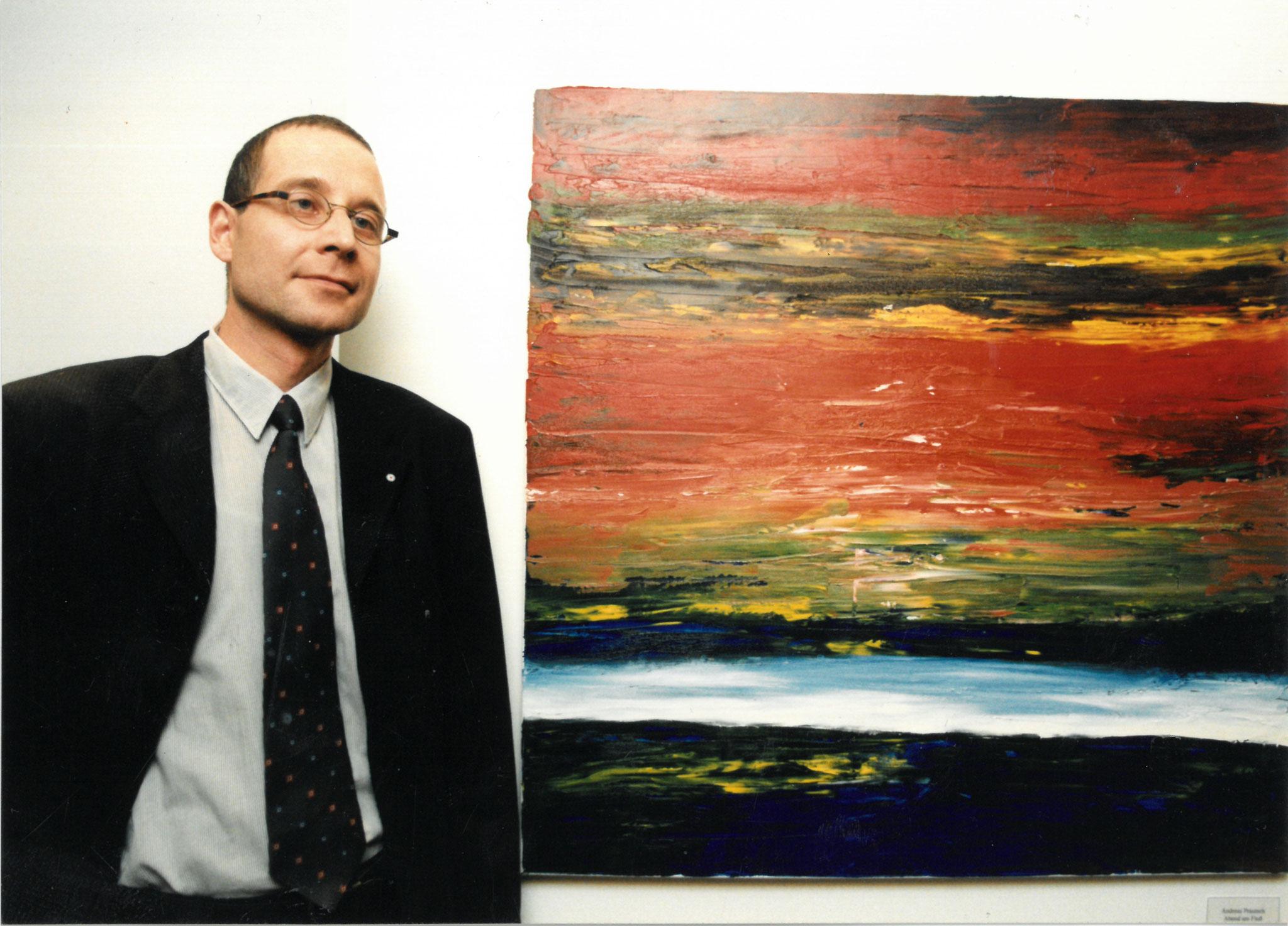 Die Sparkasse Wittenberg kauft Bilder von mir anläßlich der Errichtung der Hauptstelle - 1997