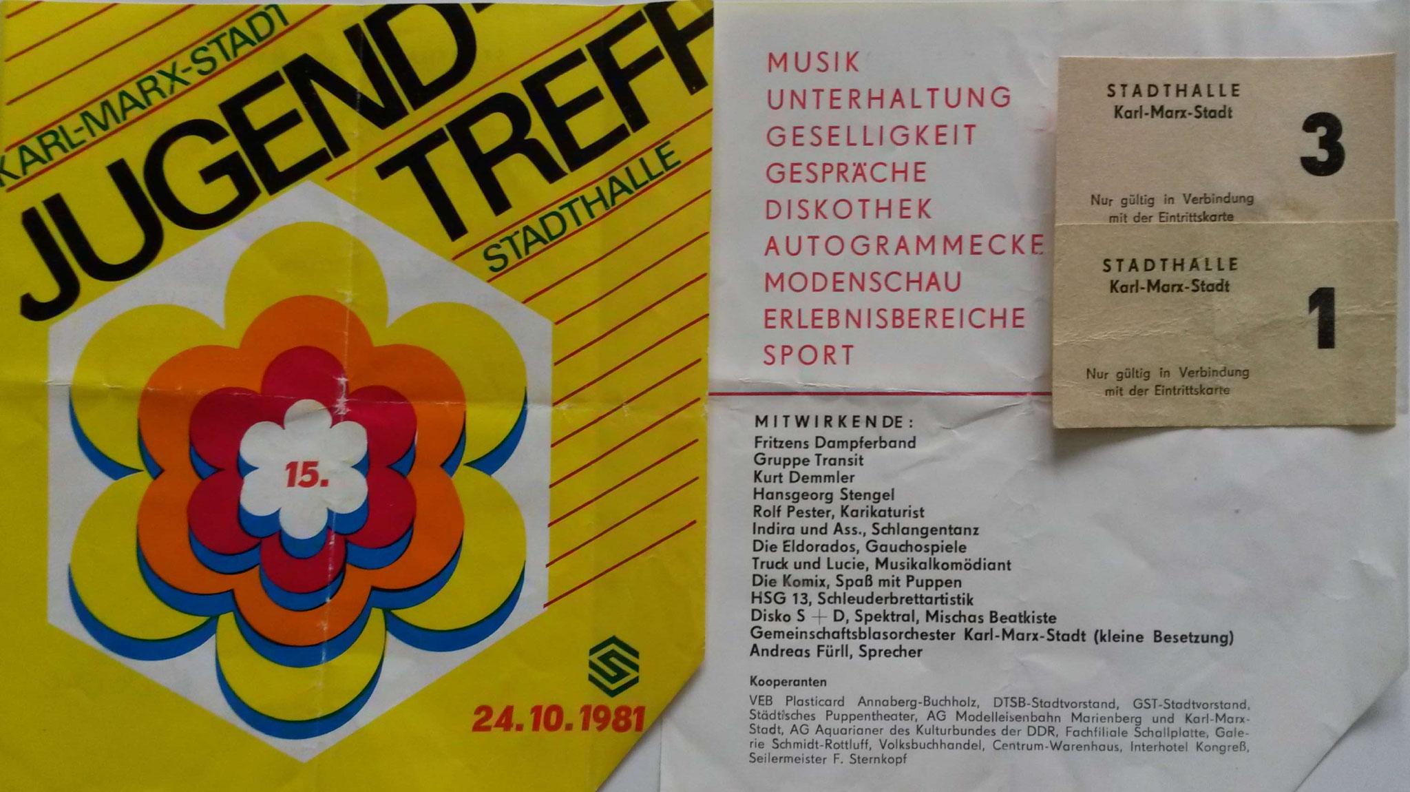 Jugend-Treff in Karl-Marx-Stadt (Chemnitz)  - 1981