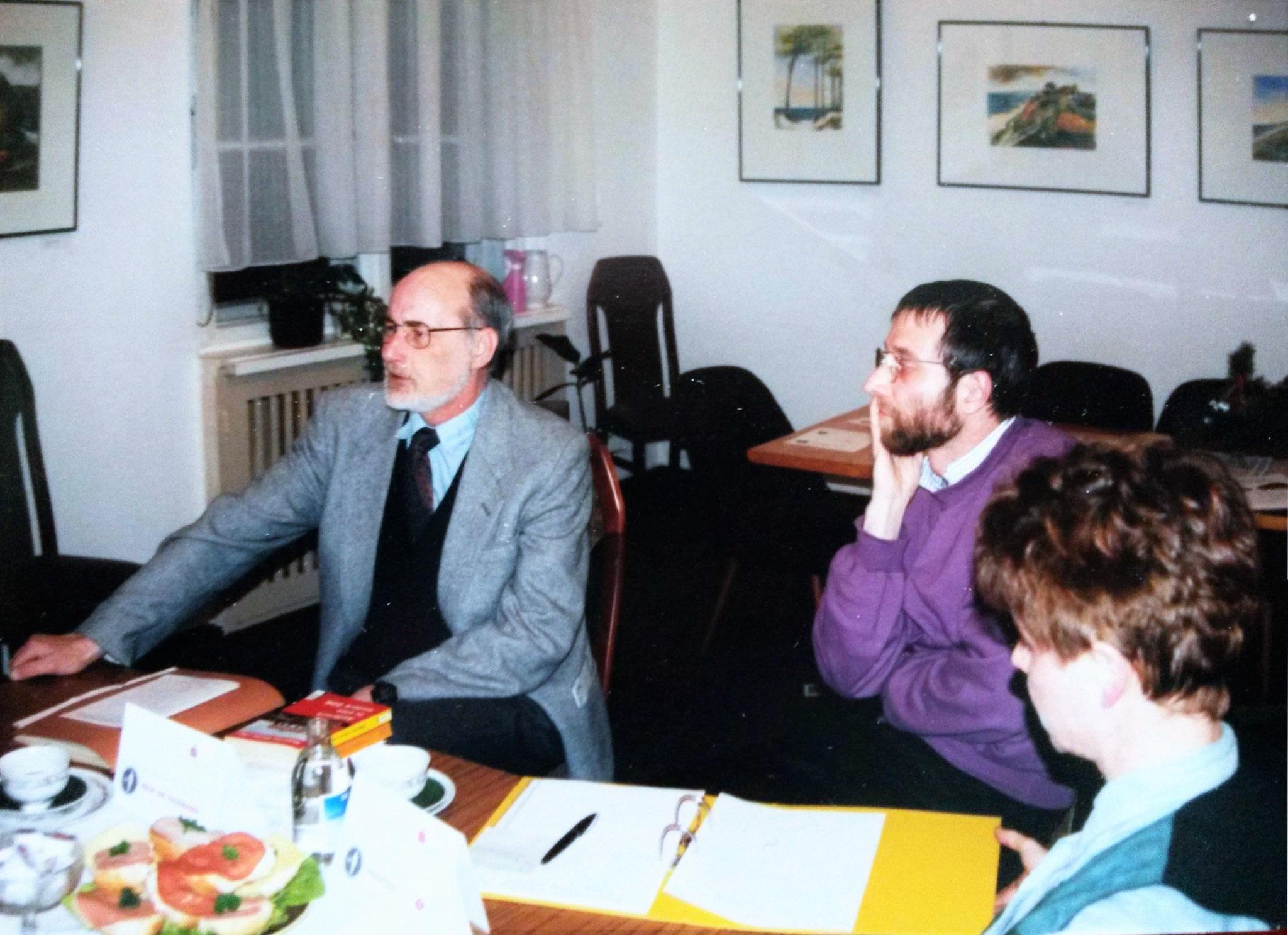 Auftaktsitzung des phil. Gesprächskreises mit Prof. Dieter Pasemann (UNI Halle-Wittenberg) - Dezember 1995