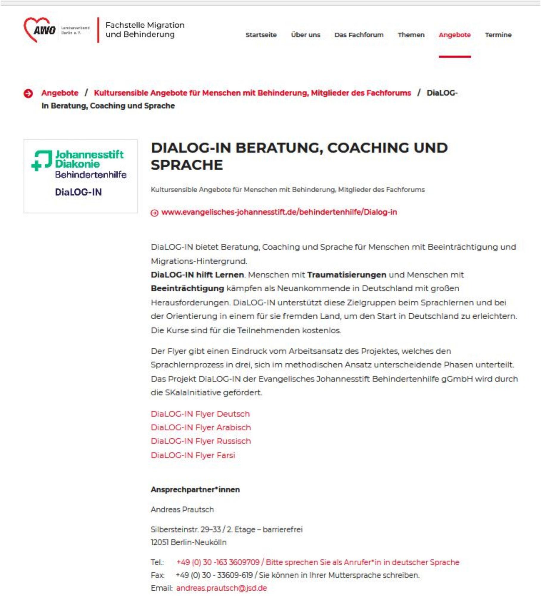 ... sehr interessiert: AWO Landesverband Berlin, Fachstelle Migration und Behinderung
